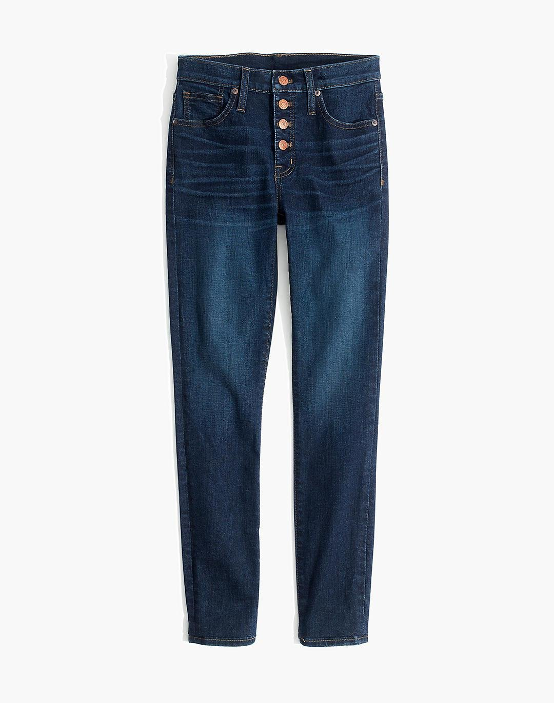 """Petite 9"""" Mid-Rise Skinny Jeans in Hayes Wash: Button-Front Edition 4"""
