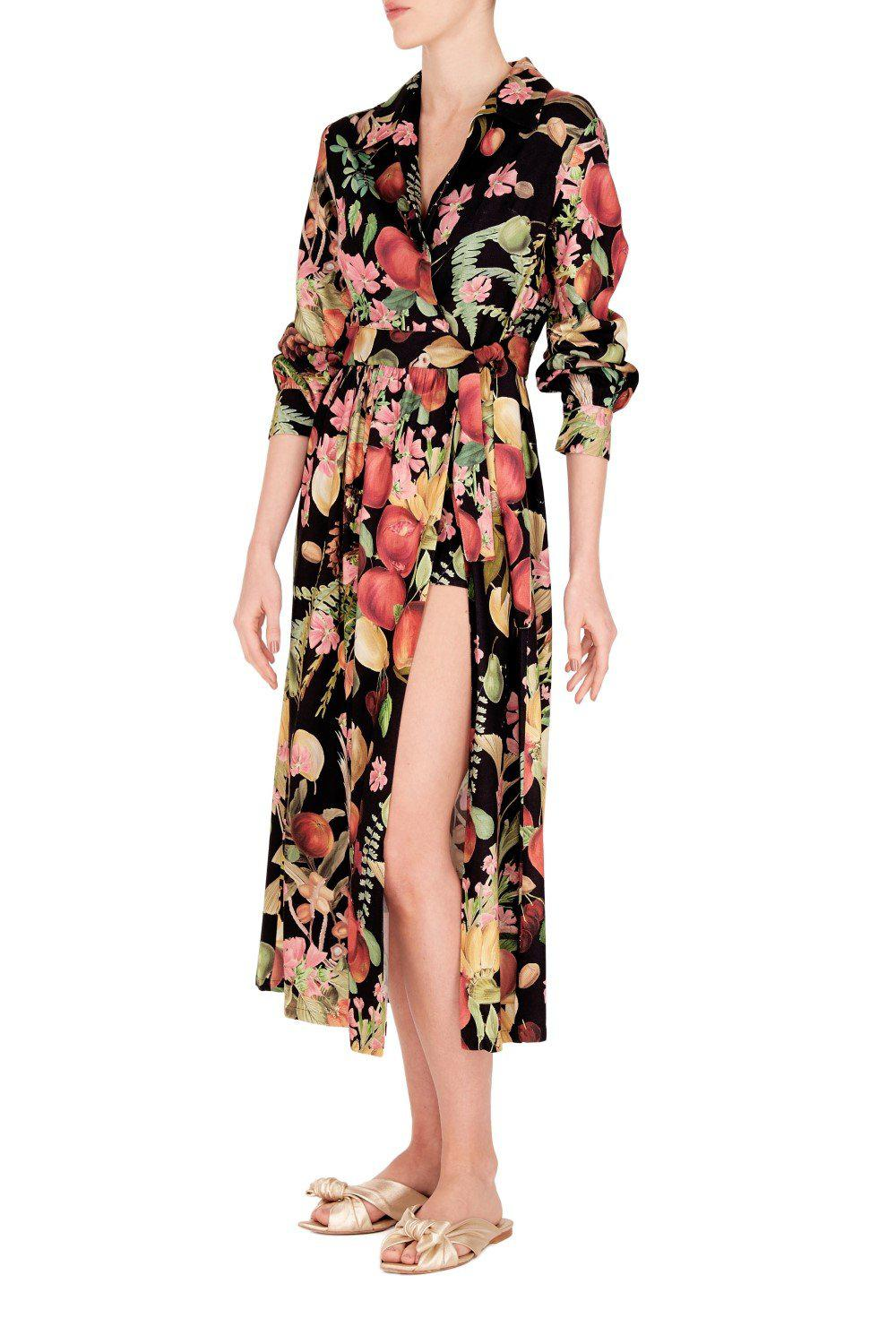 Fruits Exotiques Overlap Long Dress with Shorts