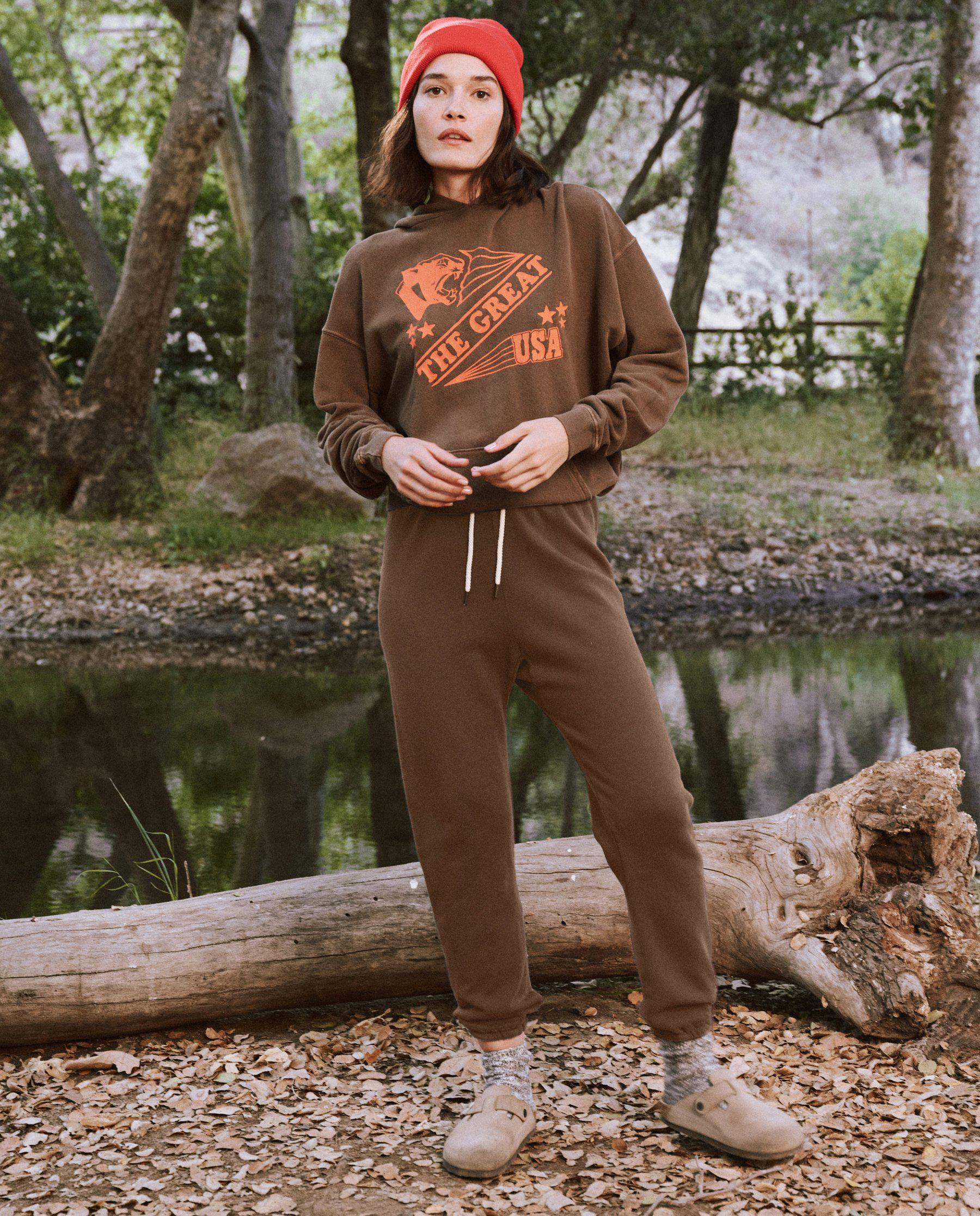 The Gym Hoodie. -- Chestnut with Cougar Graphic