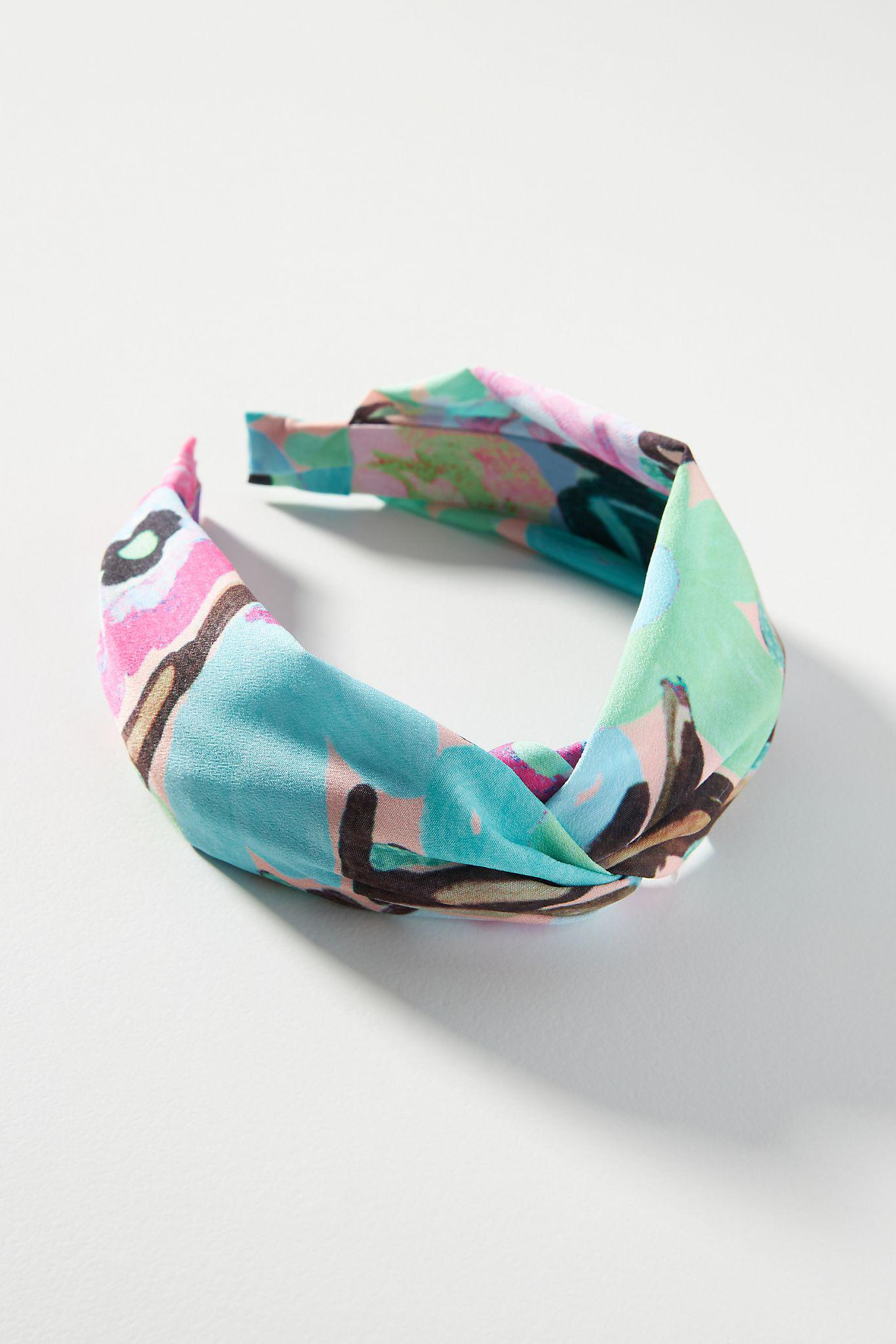 Painted Florals Knotted Headband