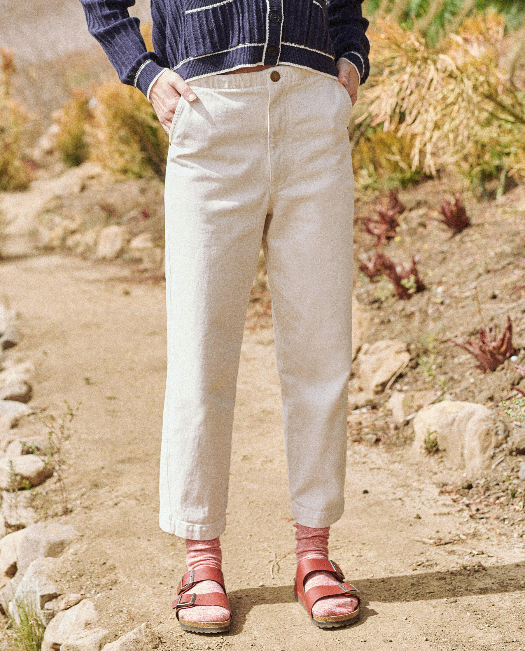 The Buckle Back Trouser. -- Stone 1