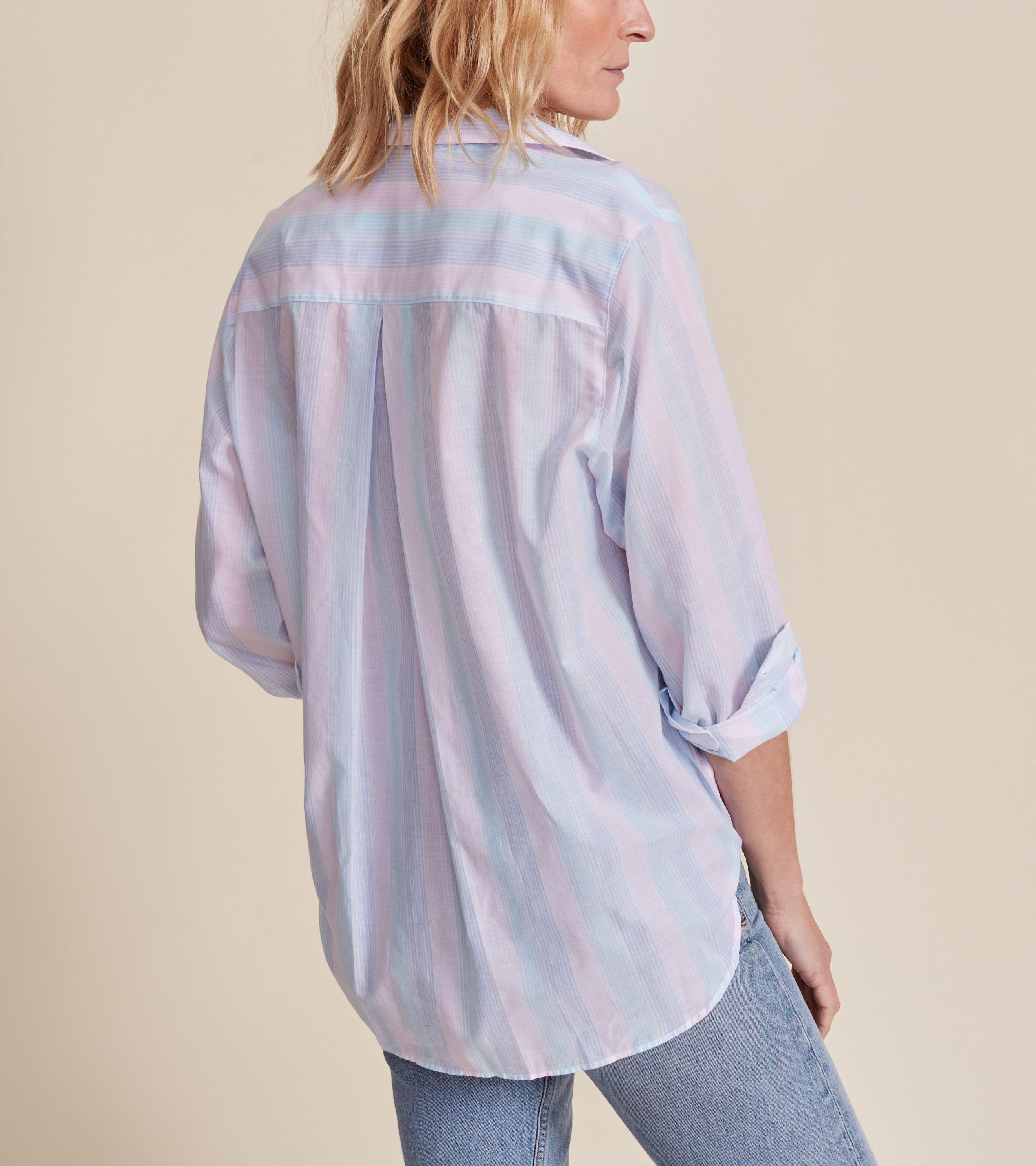 The Hero Blue and Pink Multi Stripe, Tissue Cotton Final Sale 1