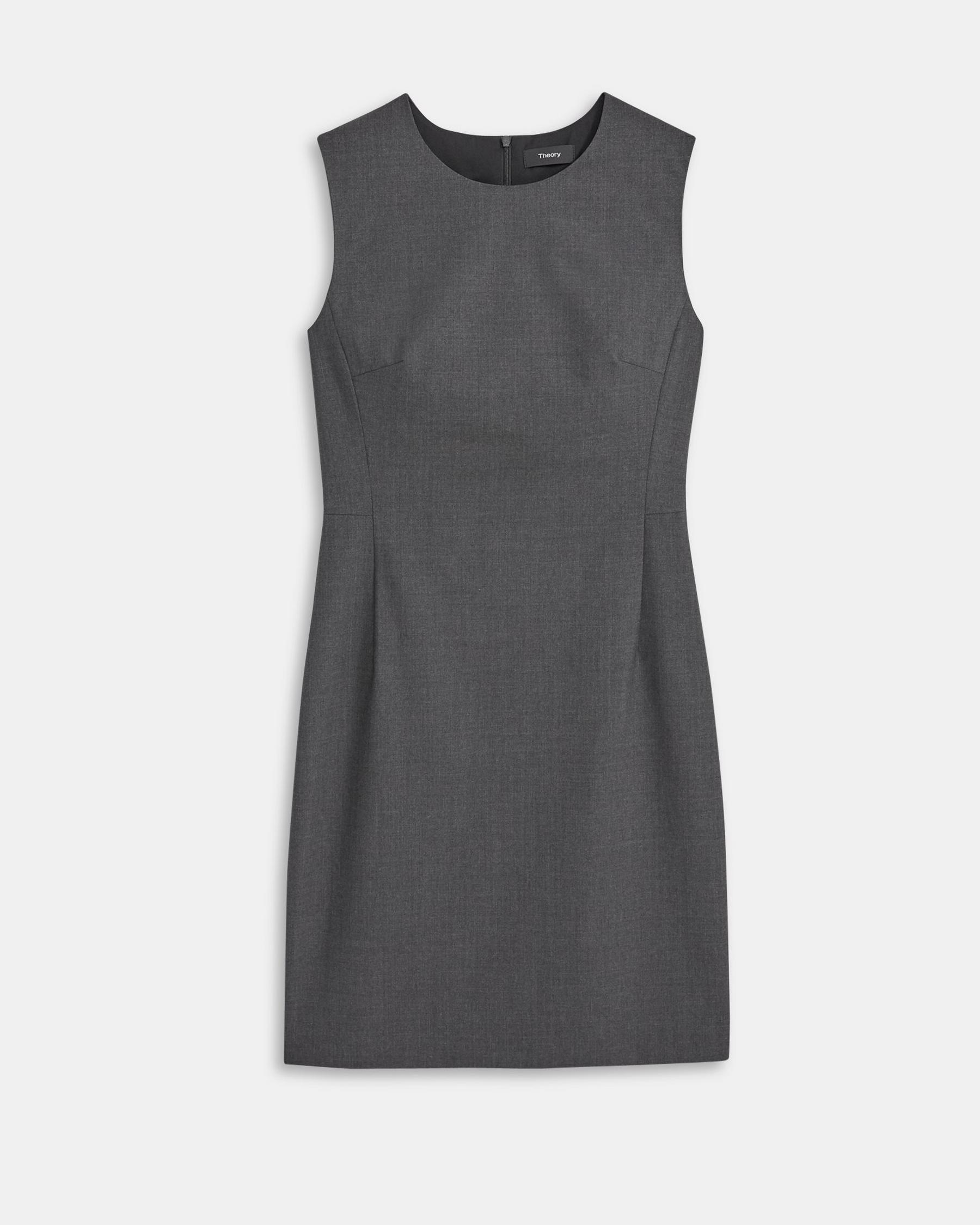 Sleeveless Fitted Dress in Good Wool 5
