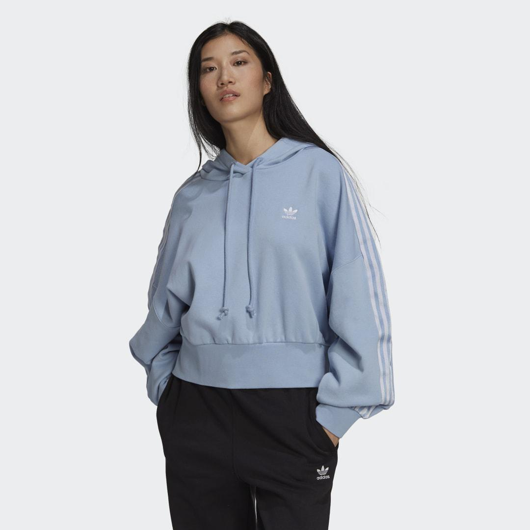 Adicolor Classics Satin Tape Cropped Hoodie Ambient Sky