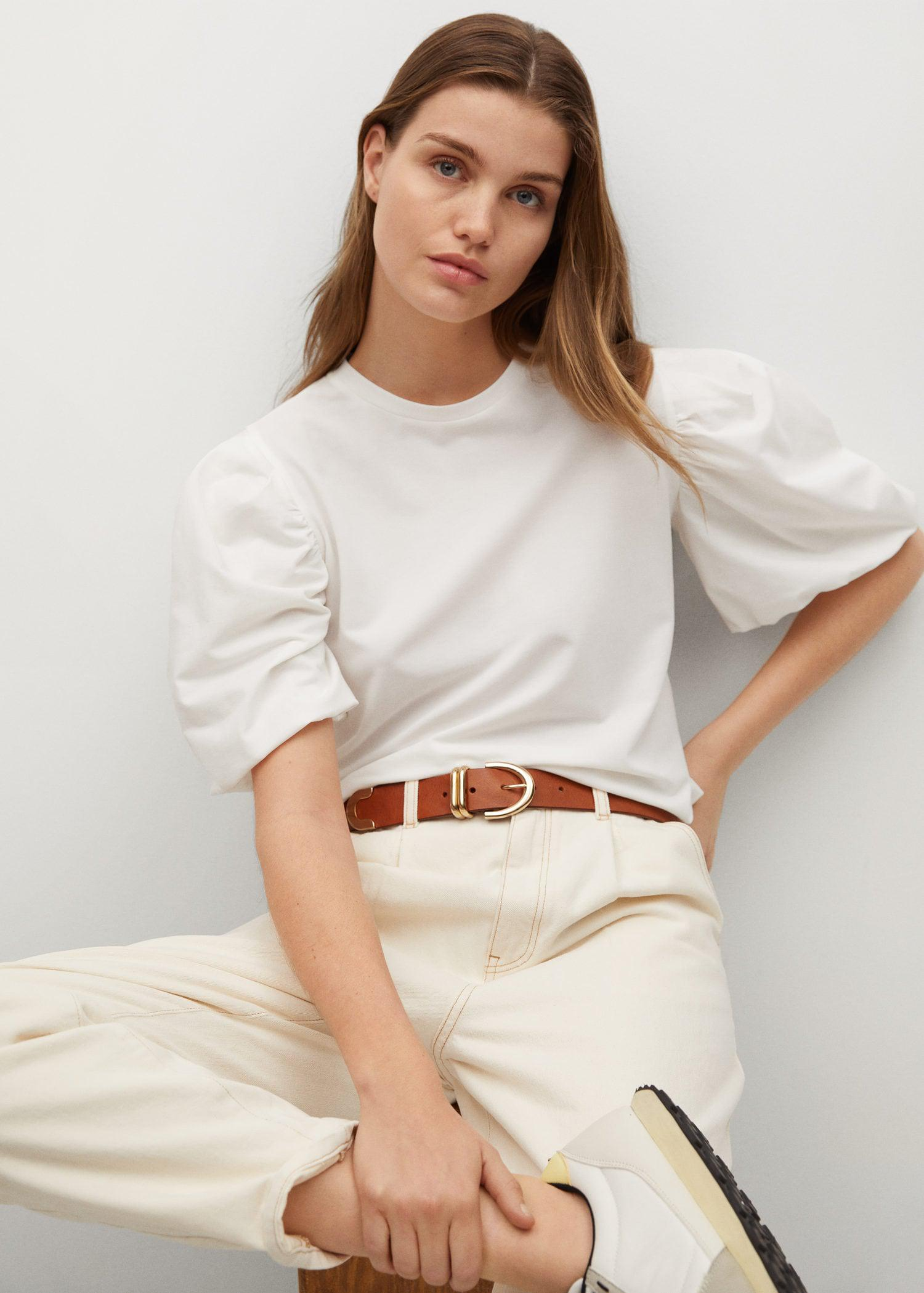 T-shirt with puffed sleeves 4