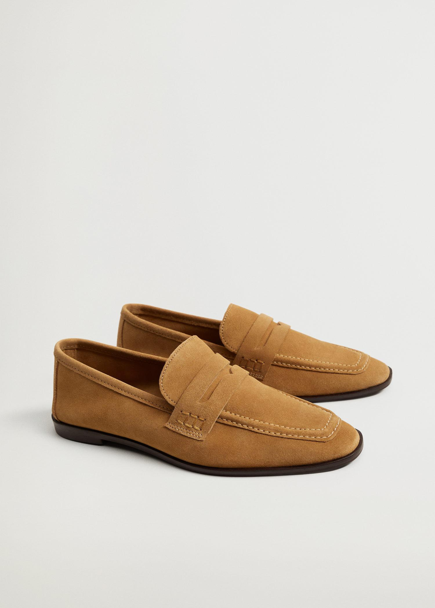 Suede leather moccasin 1