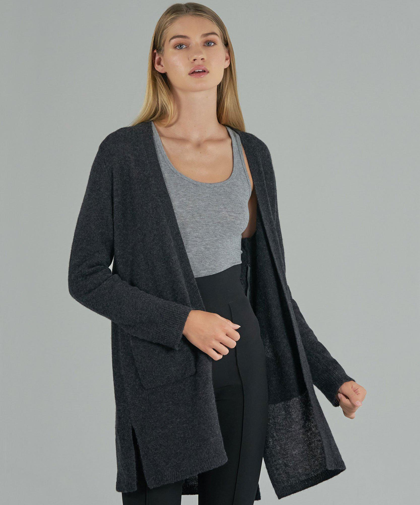 Cashmere Cardigan - Charcoal