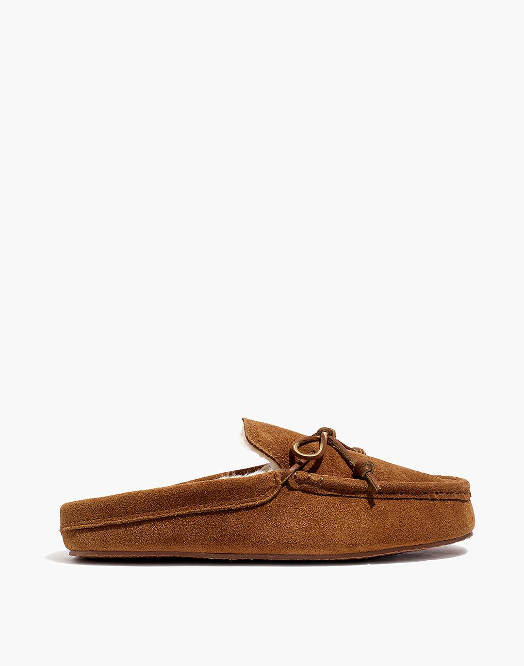 Suede Moccasin Scuff Slippers 1