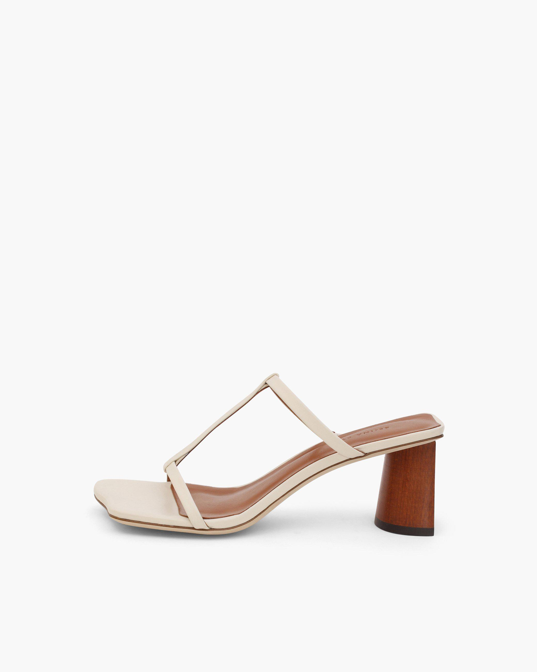 Erin Sandals Leather Ivory