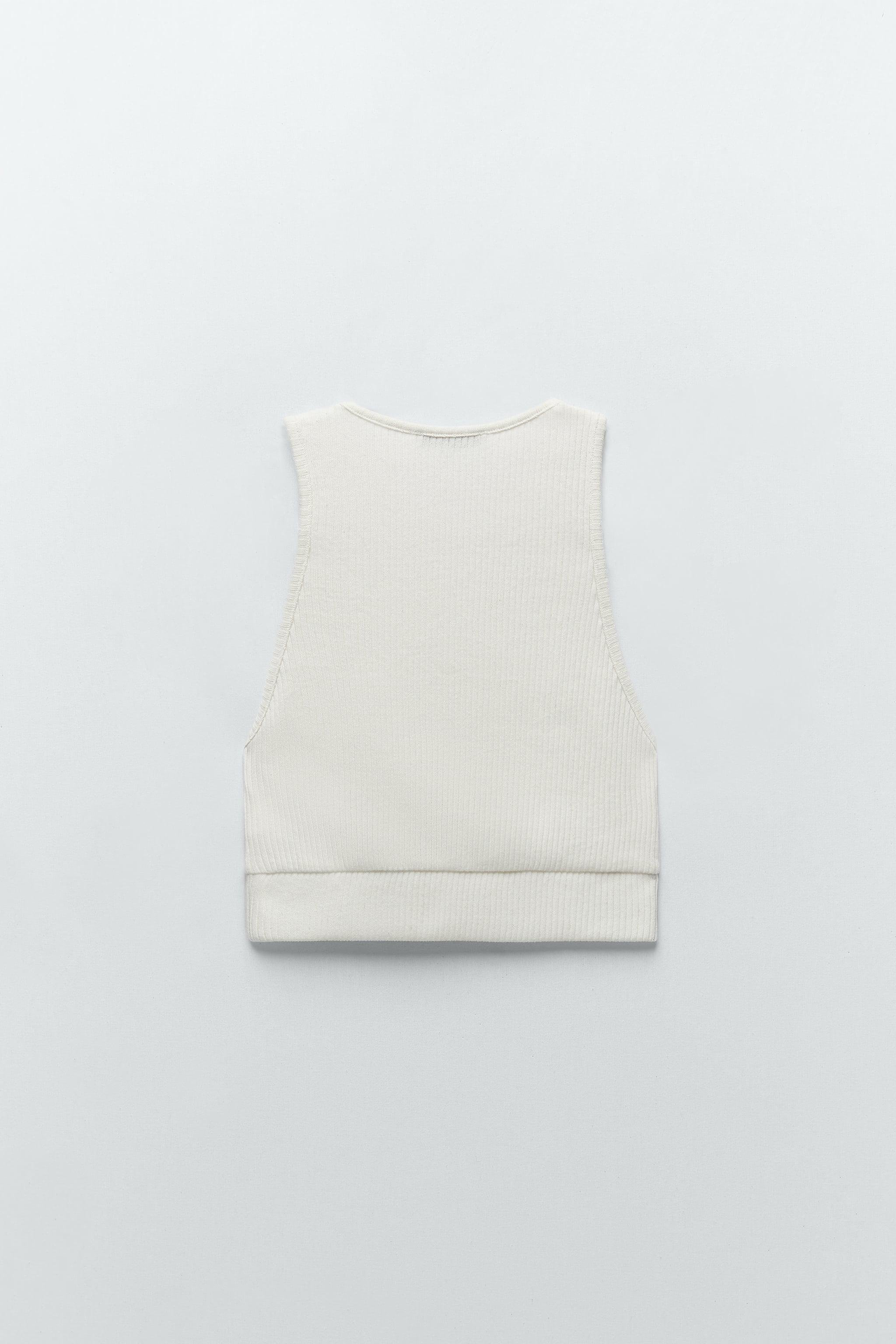 CROPPED RIBBED T-SHIRT 5