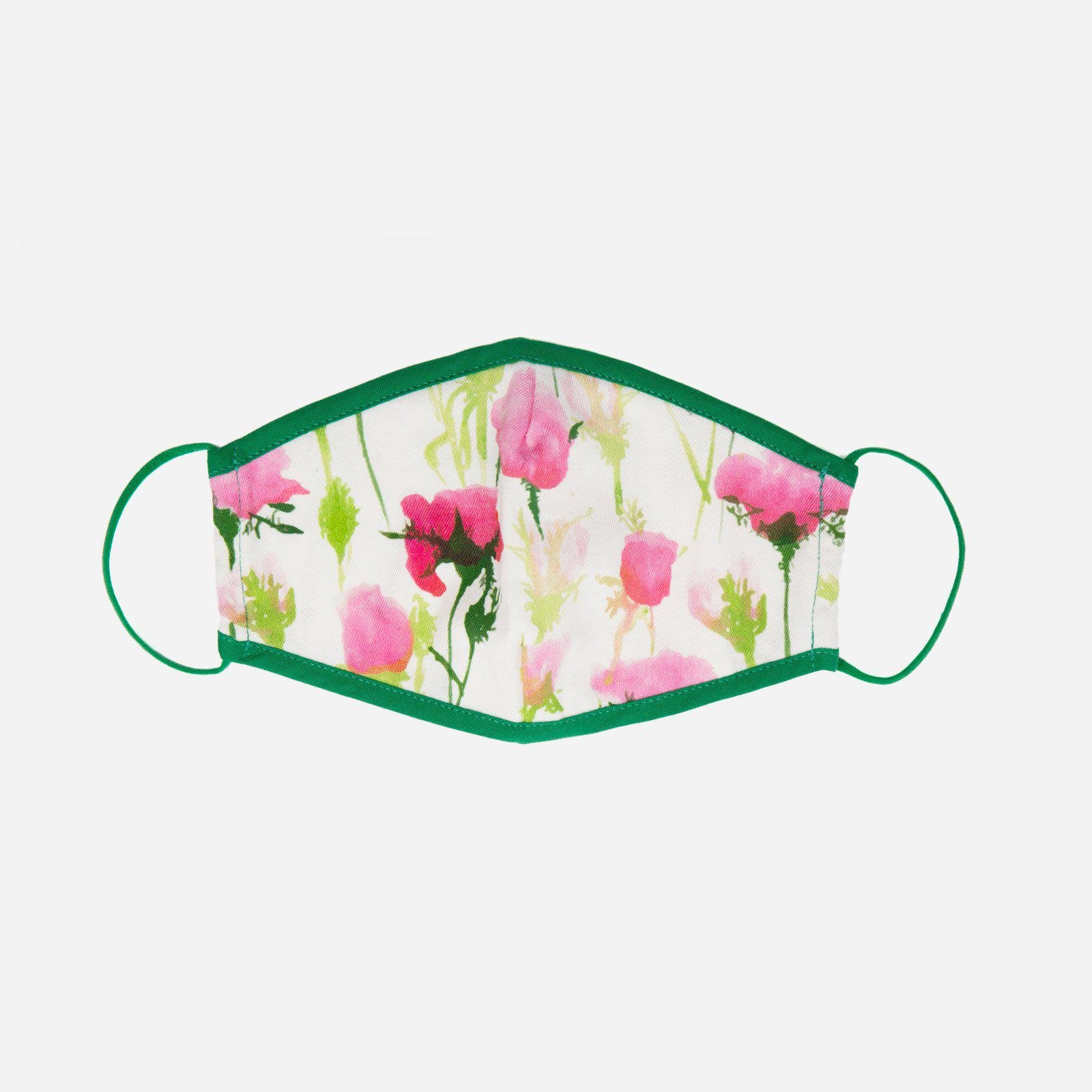 Fitted Mask Rose Print