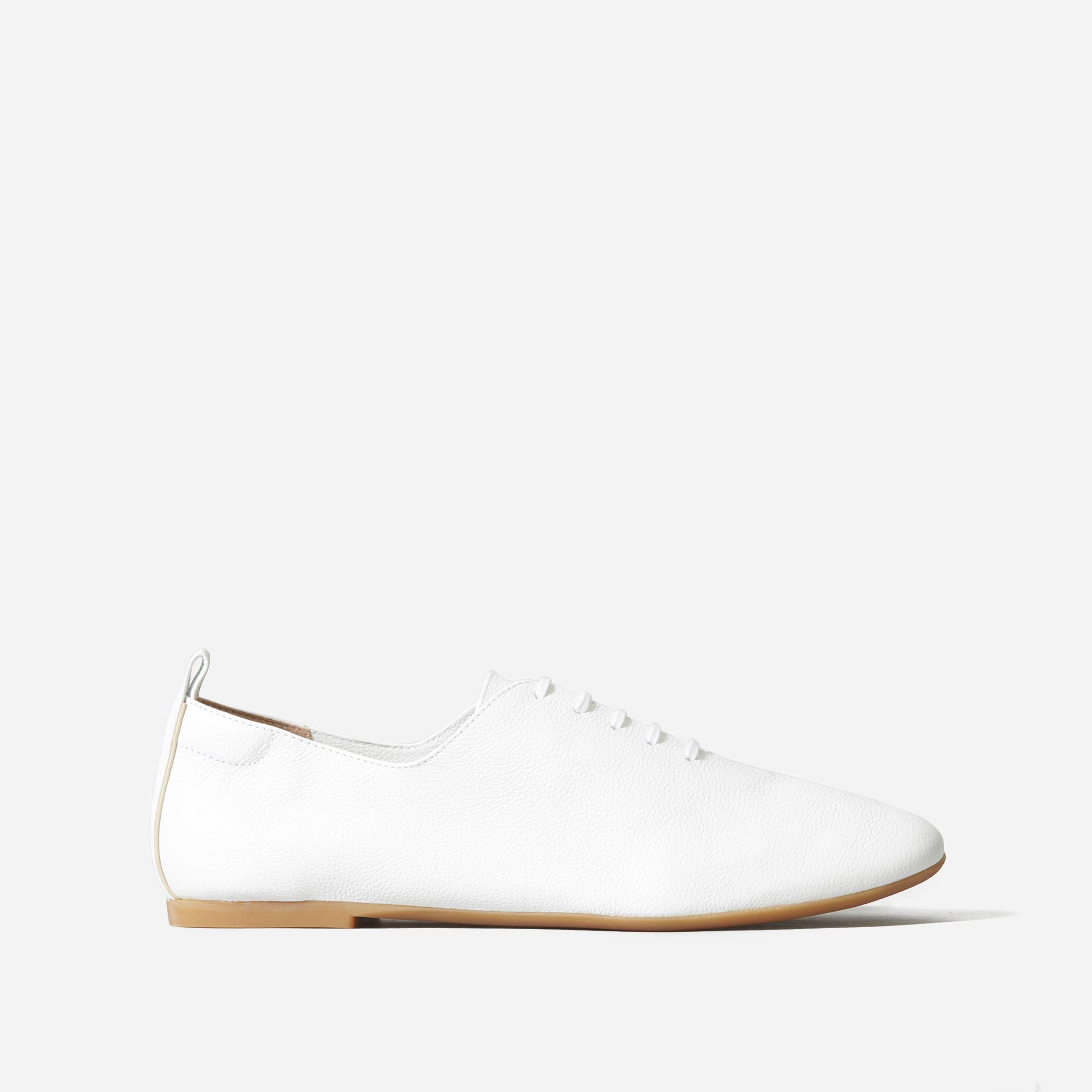 The Leather Lace-Up Flat 0