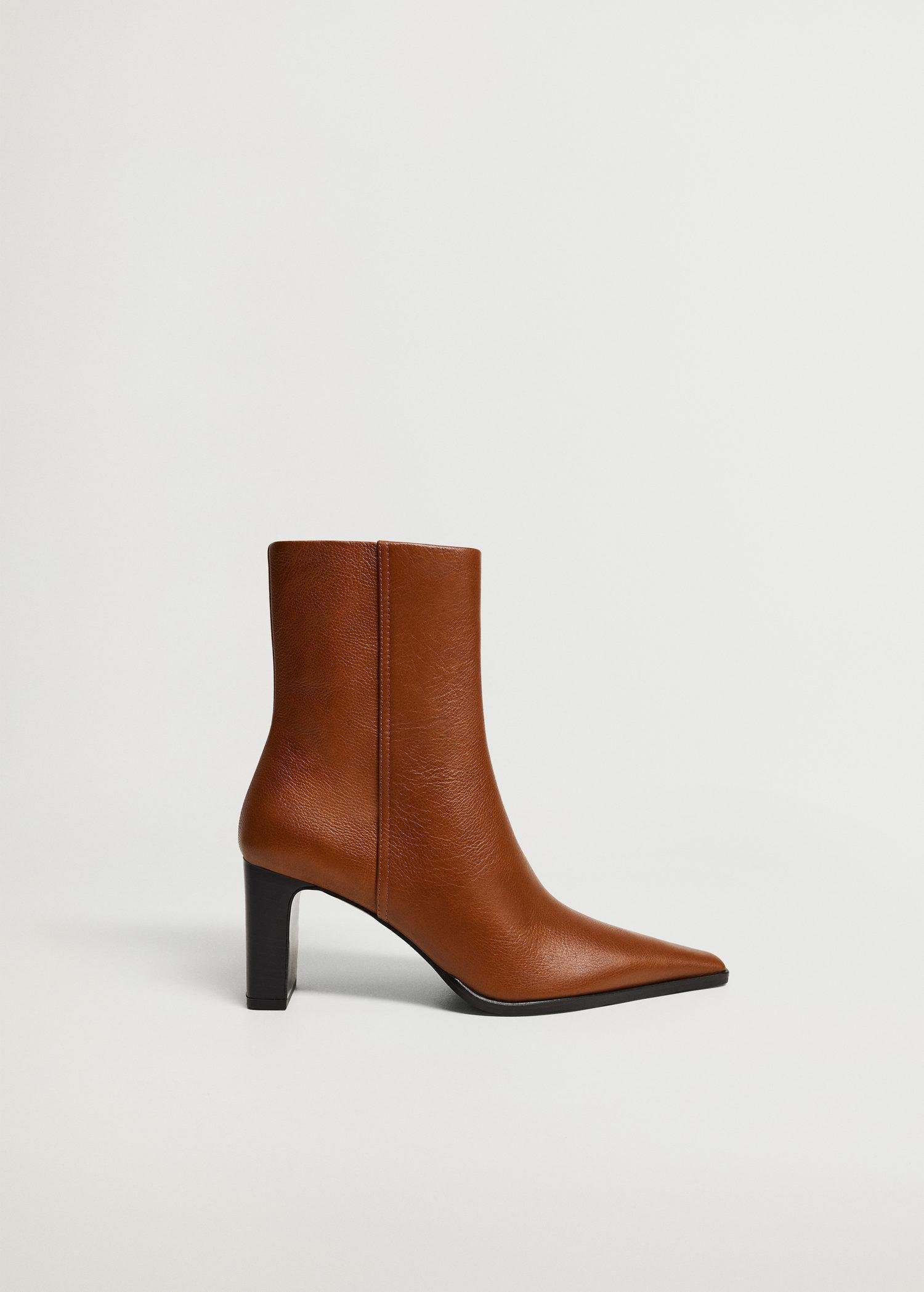 Heel leather ankle boot 0
