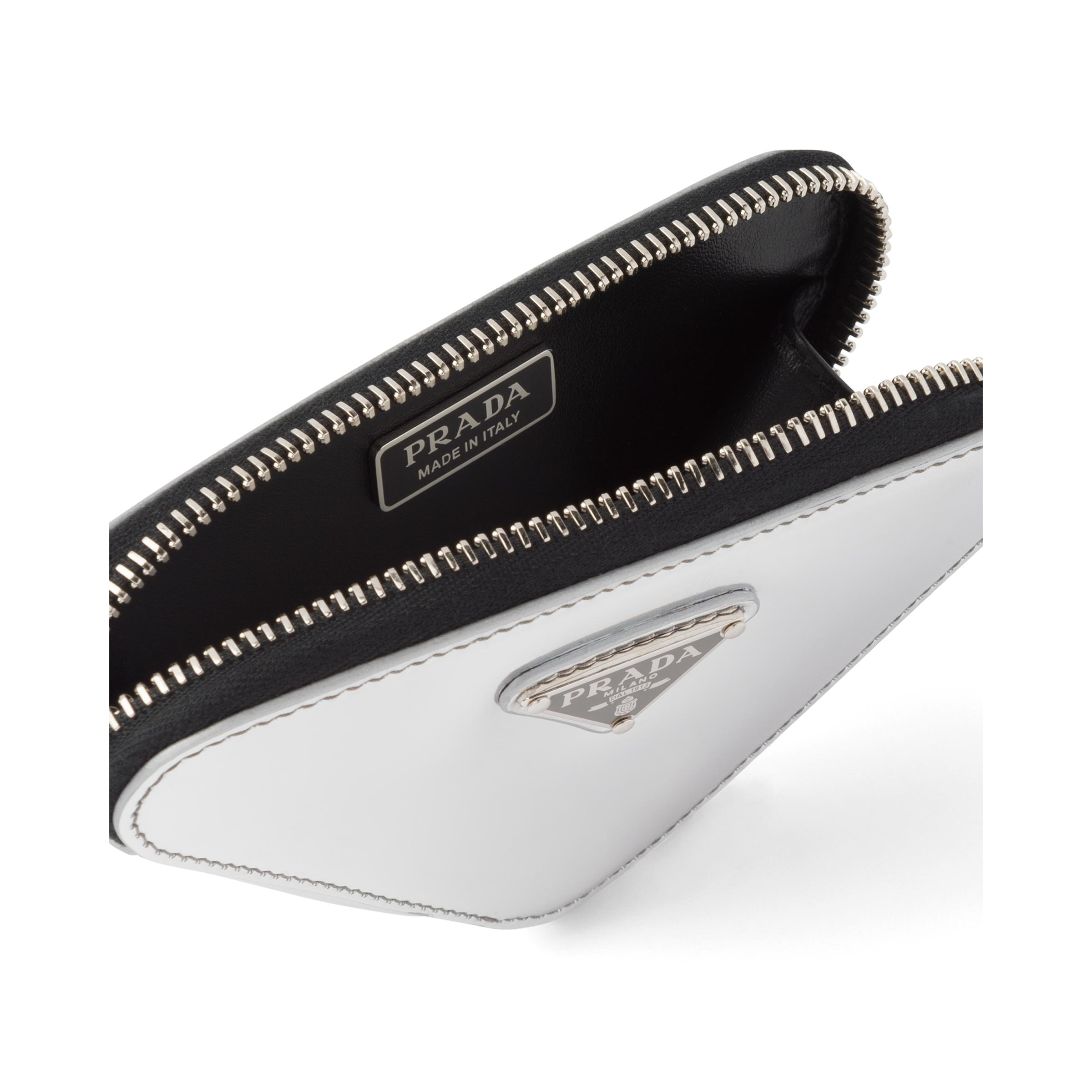Brushed Leather Mini-pouch Women Silver 2