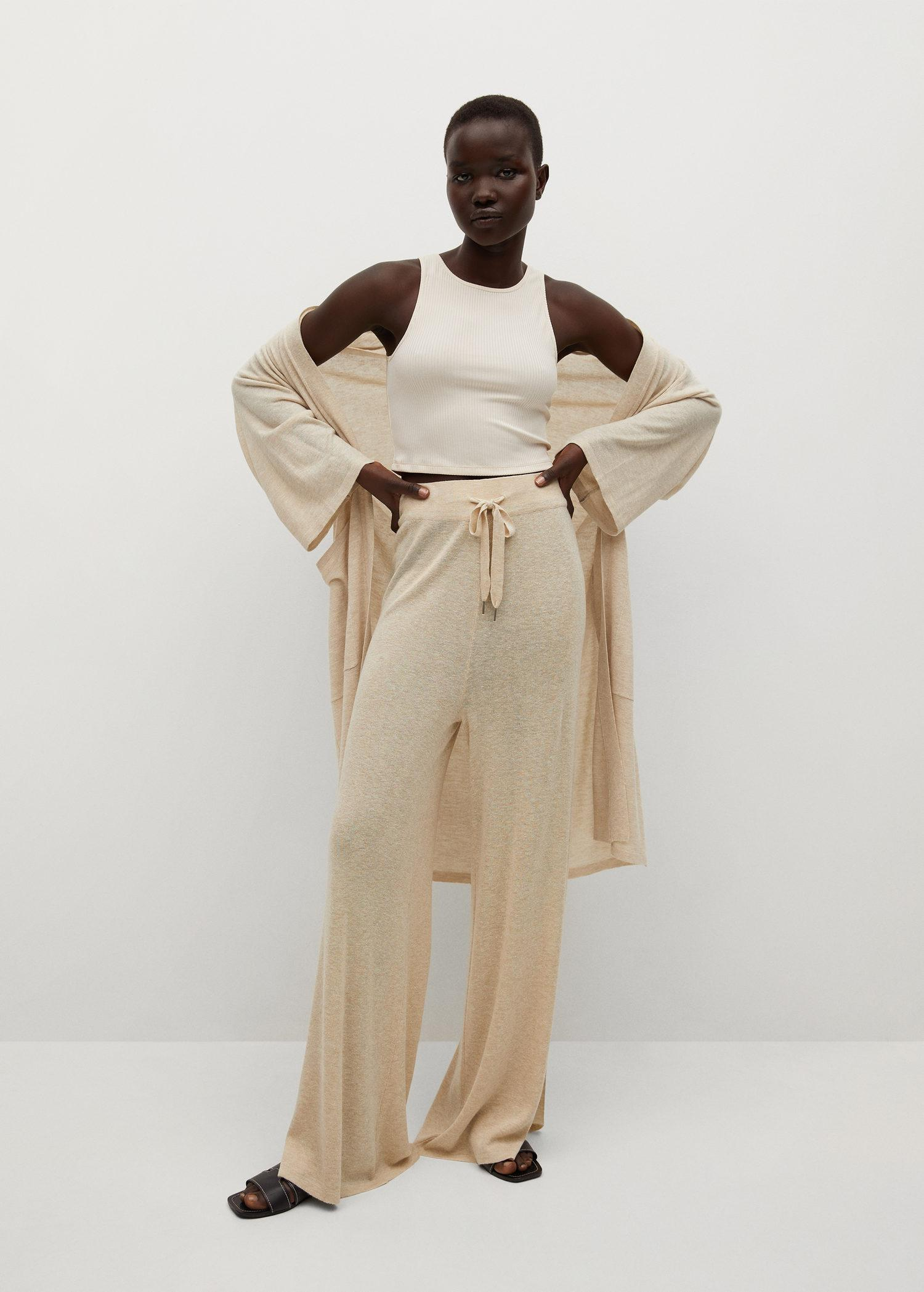 Knitted linen pants 1