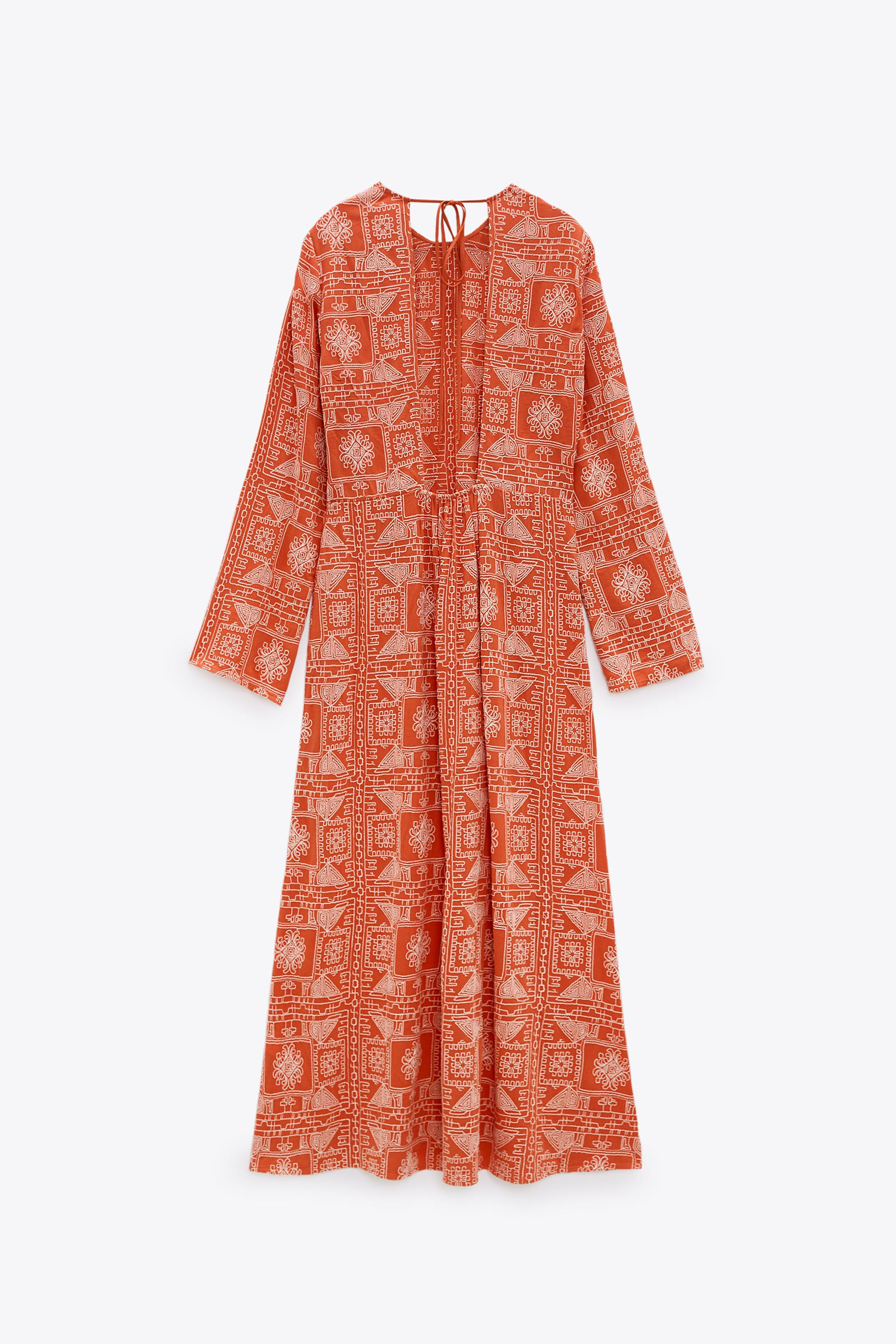 LONG EMBROIDERED DRESS 3