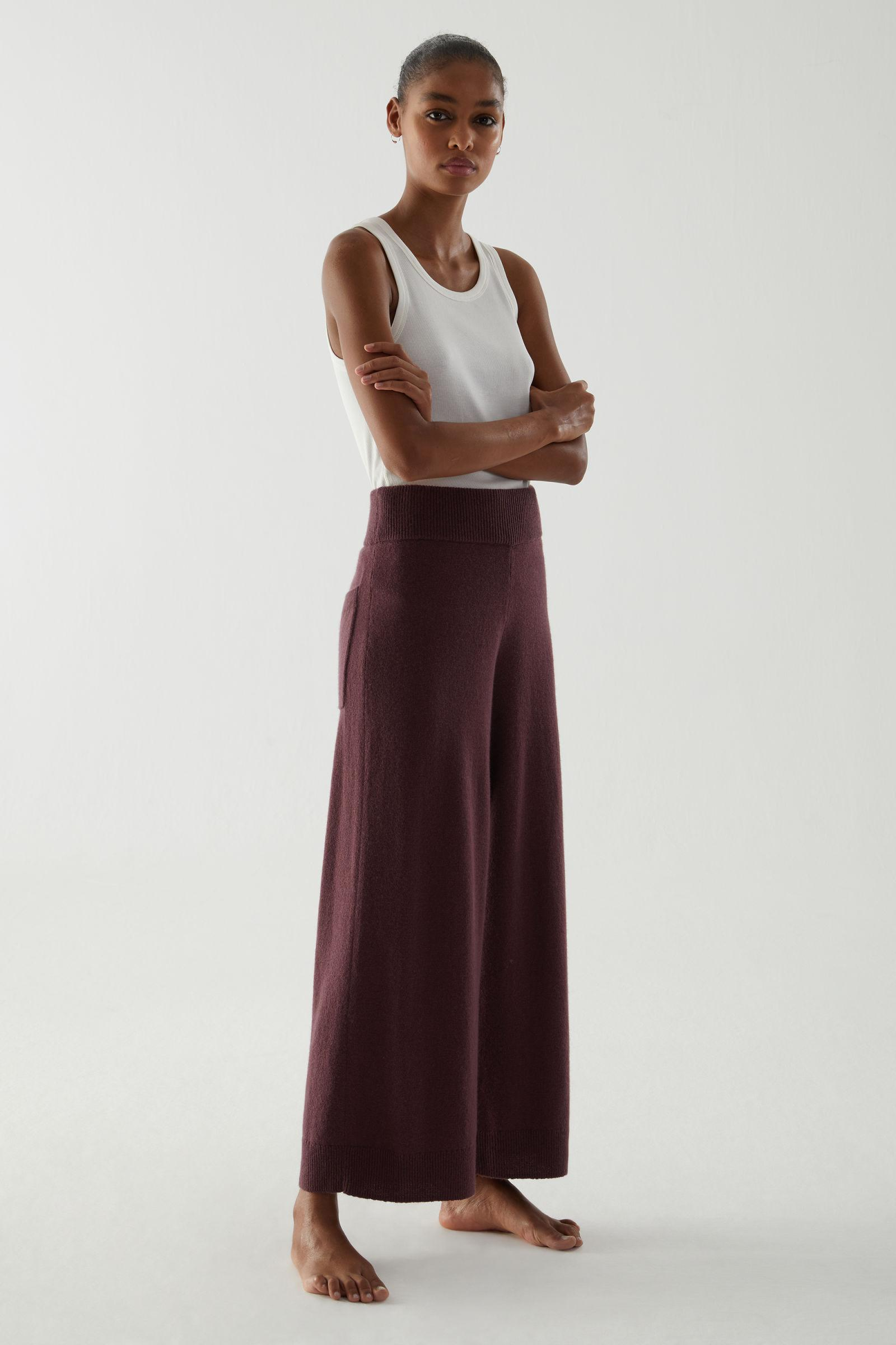 RECYCLED CASHMERE WIDE-LEG PANTS 1