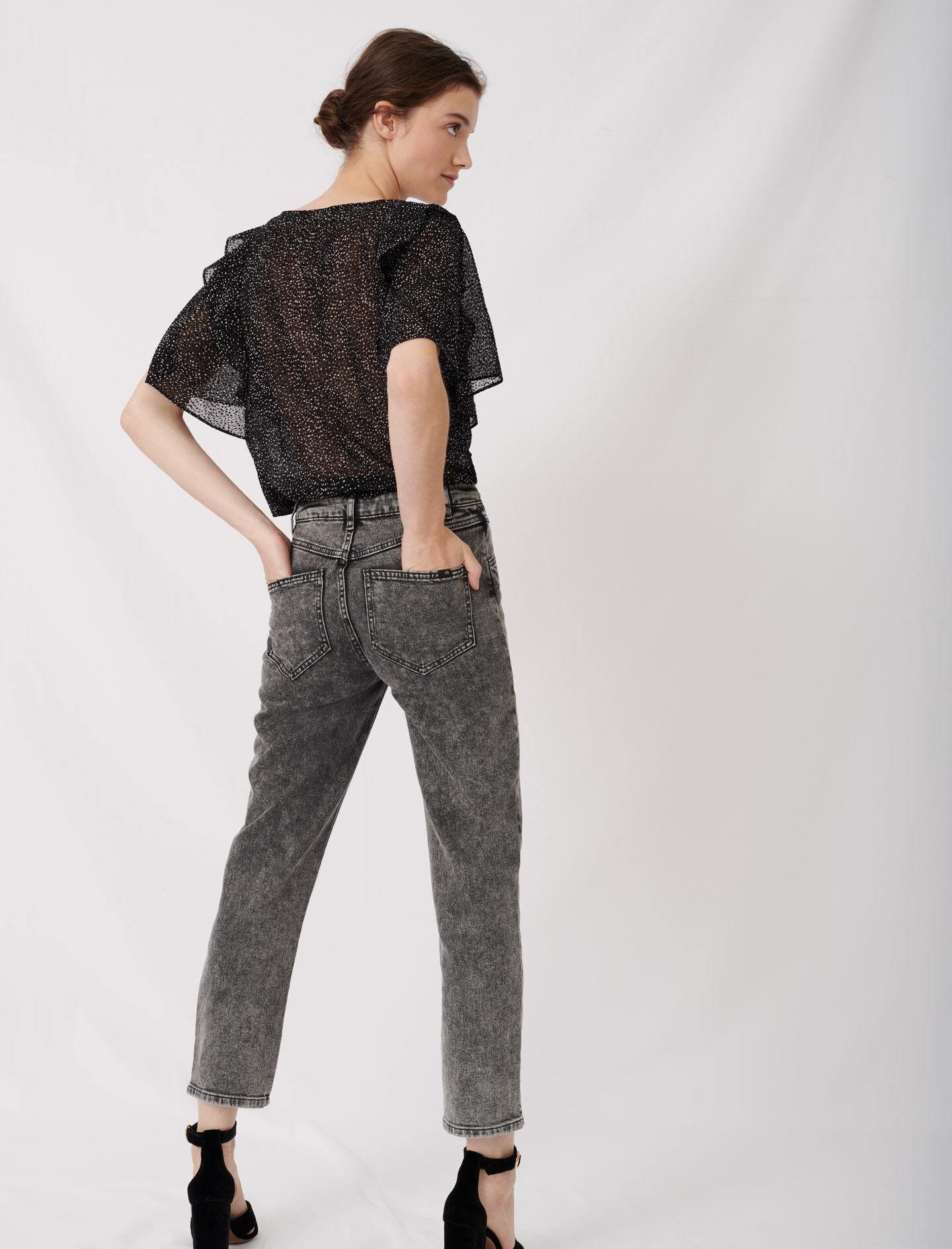 HIGH-RISE FADED JEANS 2