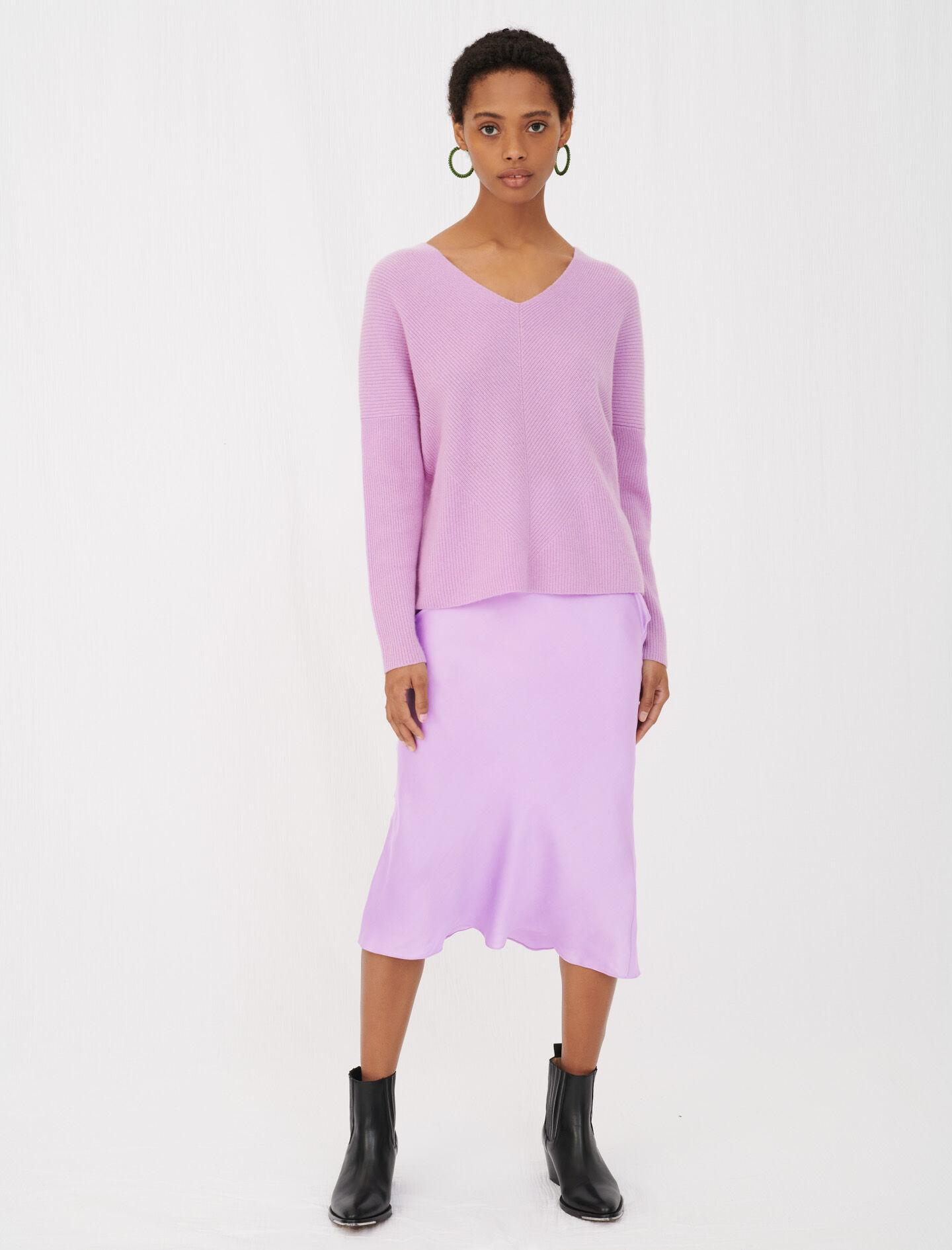 LOW-CUT RIBBED CASHMERE SWEATER 1