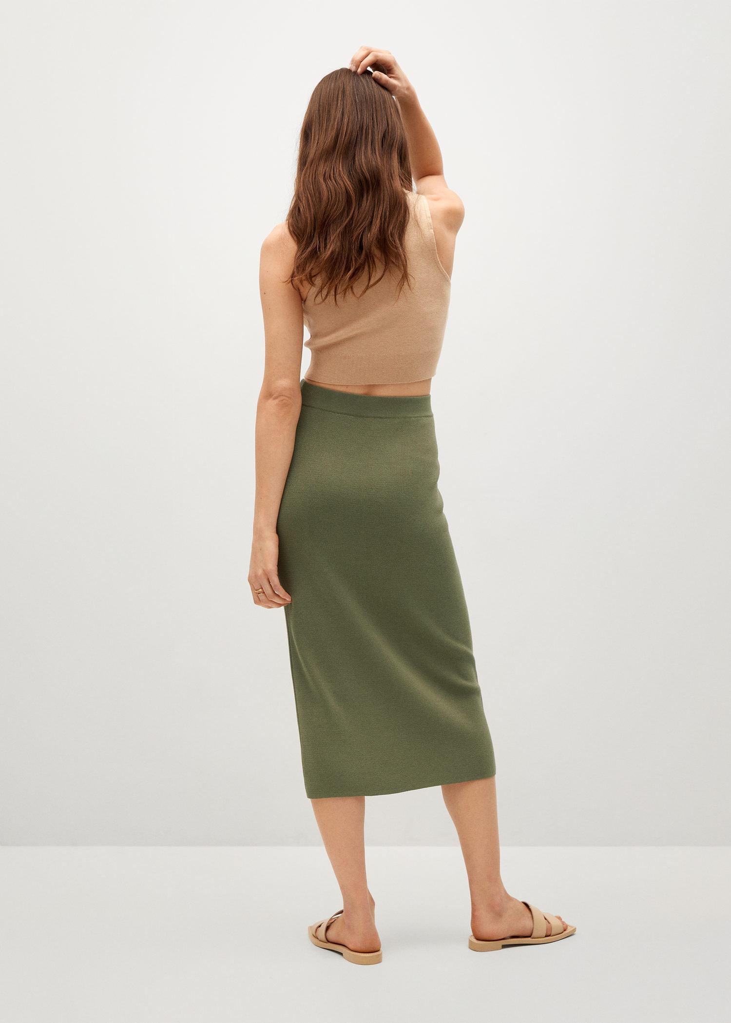 Ruched detail skirt 2