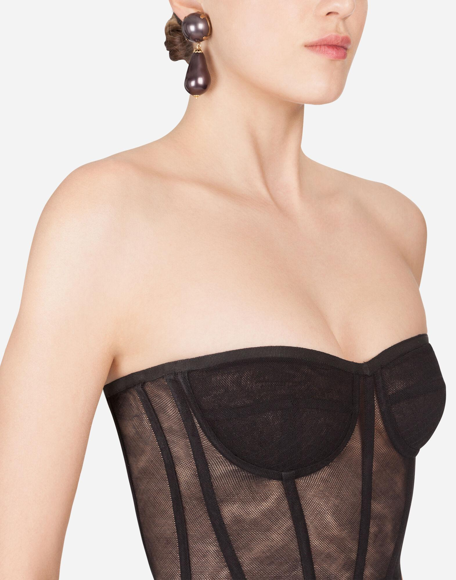 Cotton tulle bustier top 2
