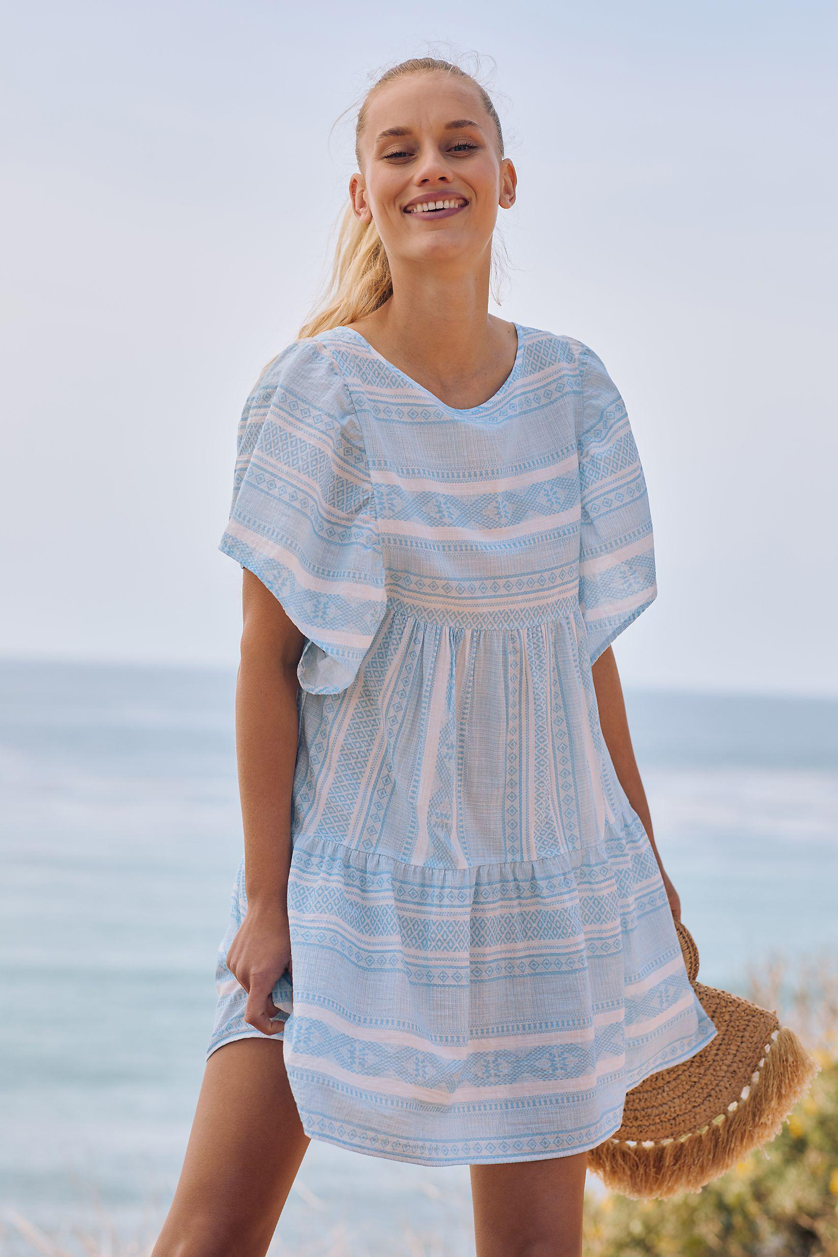 Maeve Tiered Cover-Up Mini Dress