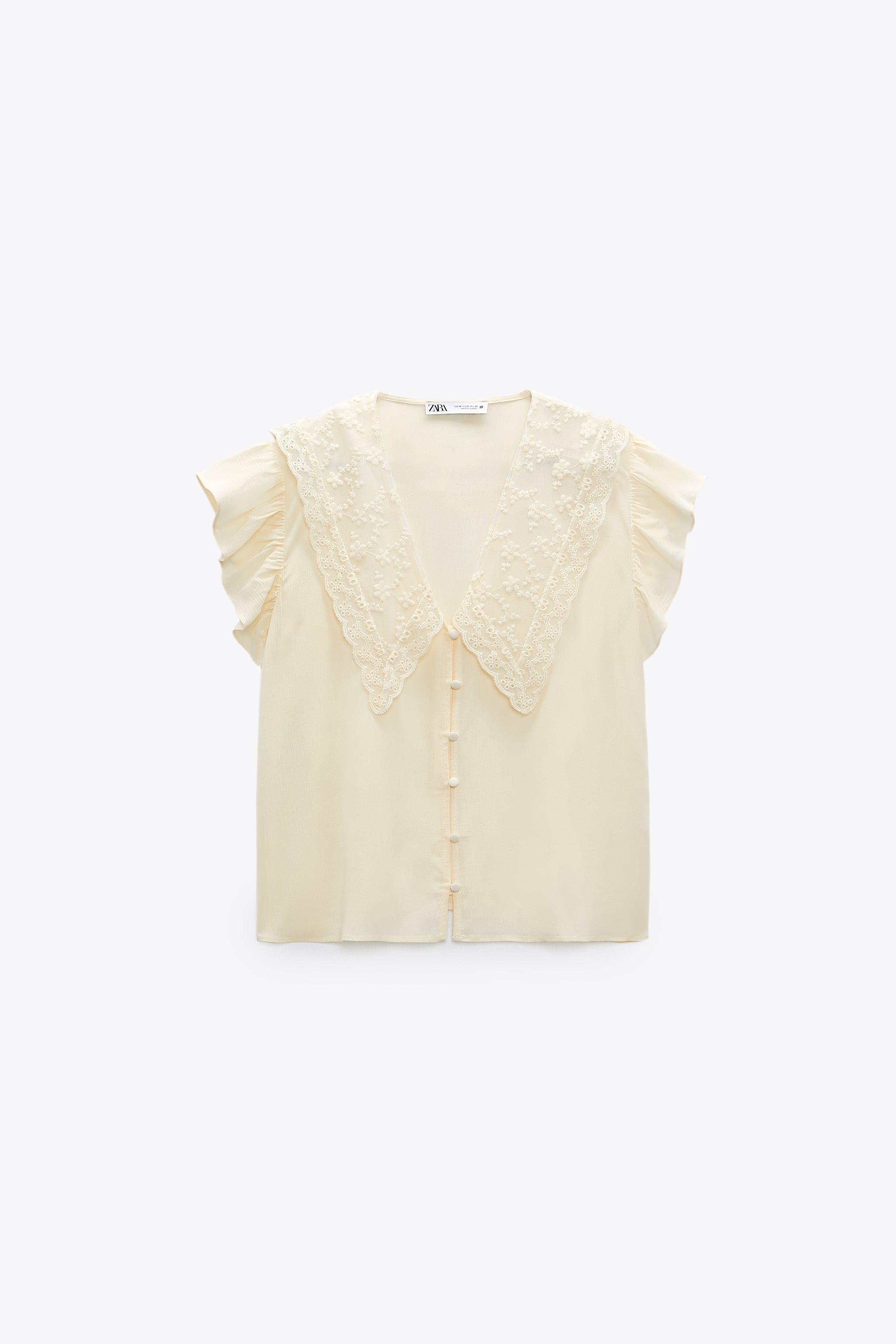 EMBROIDERED LAPEL BLOUSE 5