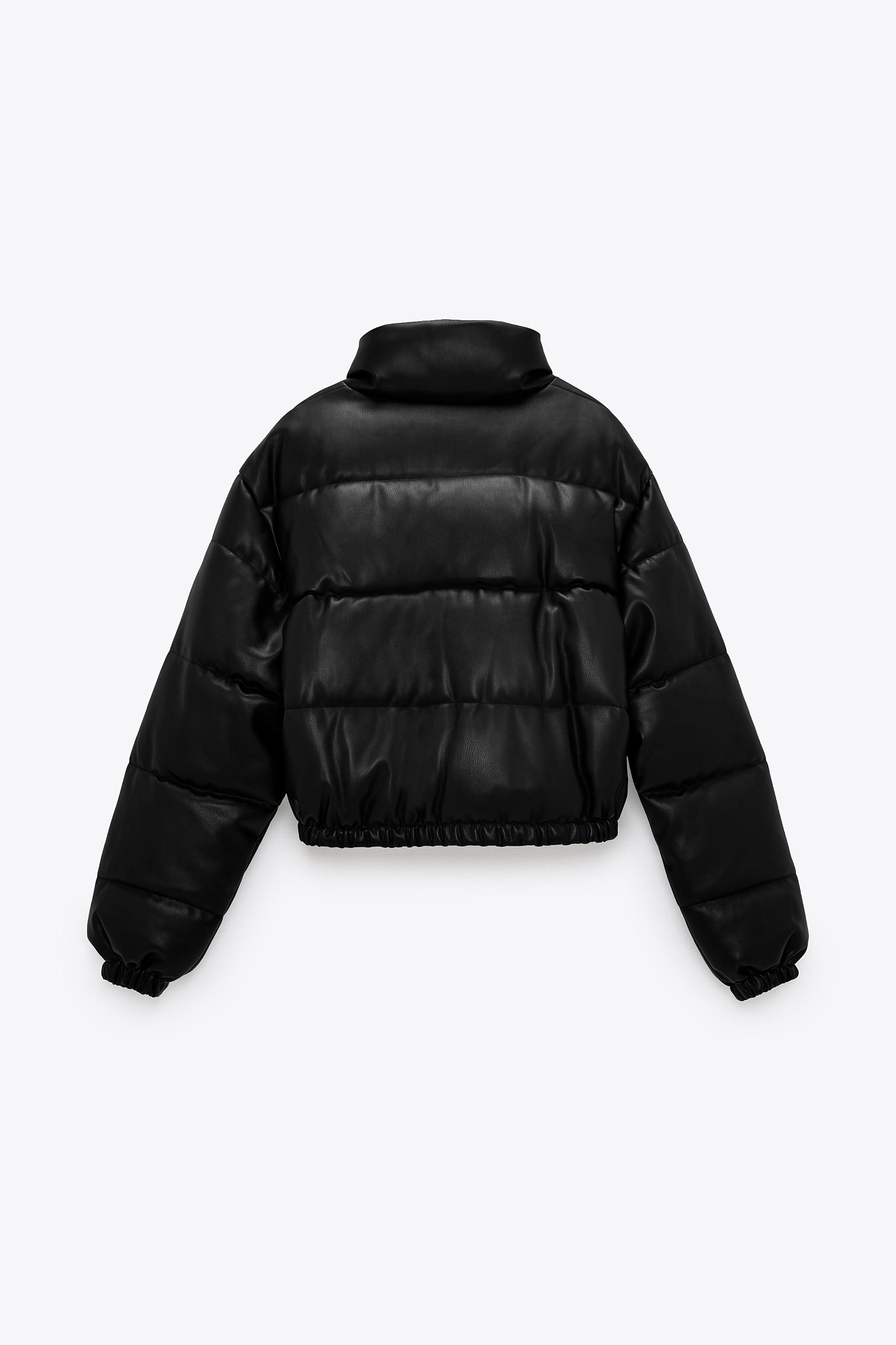 FAUX LEATHER PUFFER JACKET 5