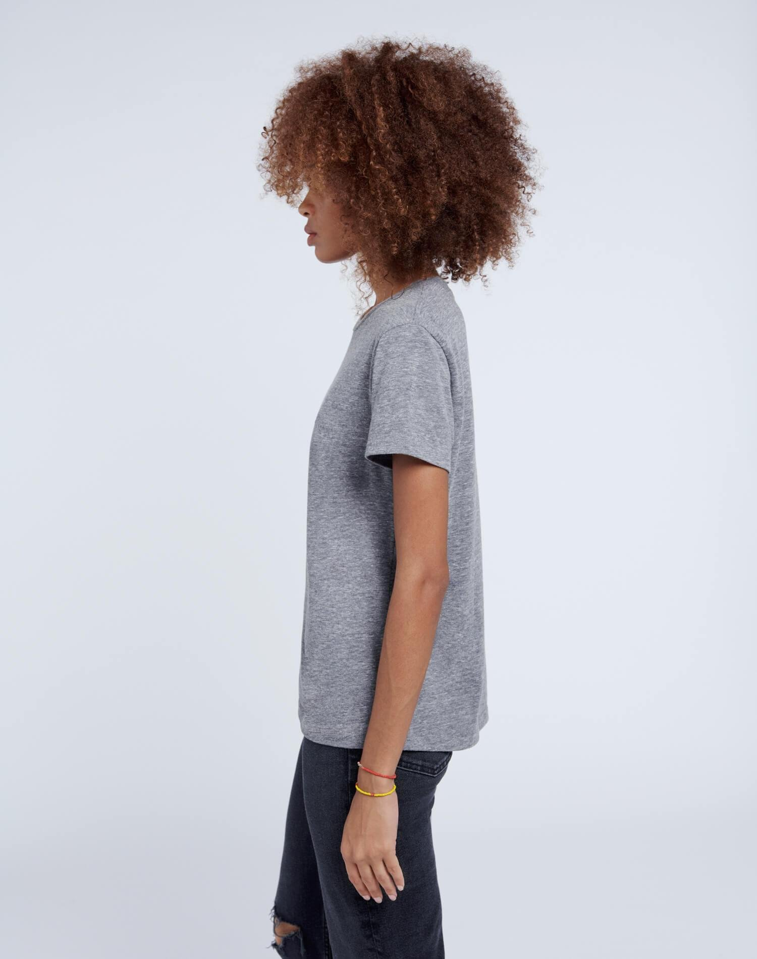 70s Recycled Loose Tee - Heather Grey 3