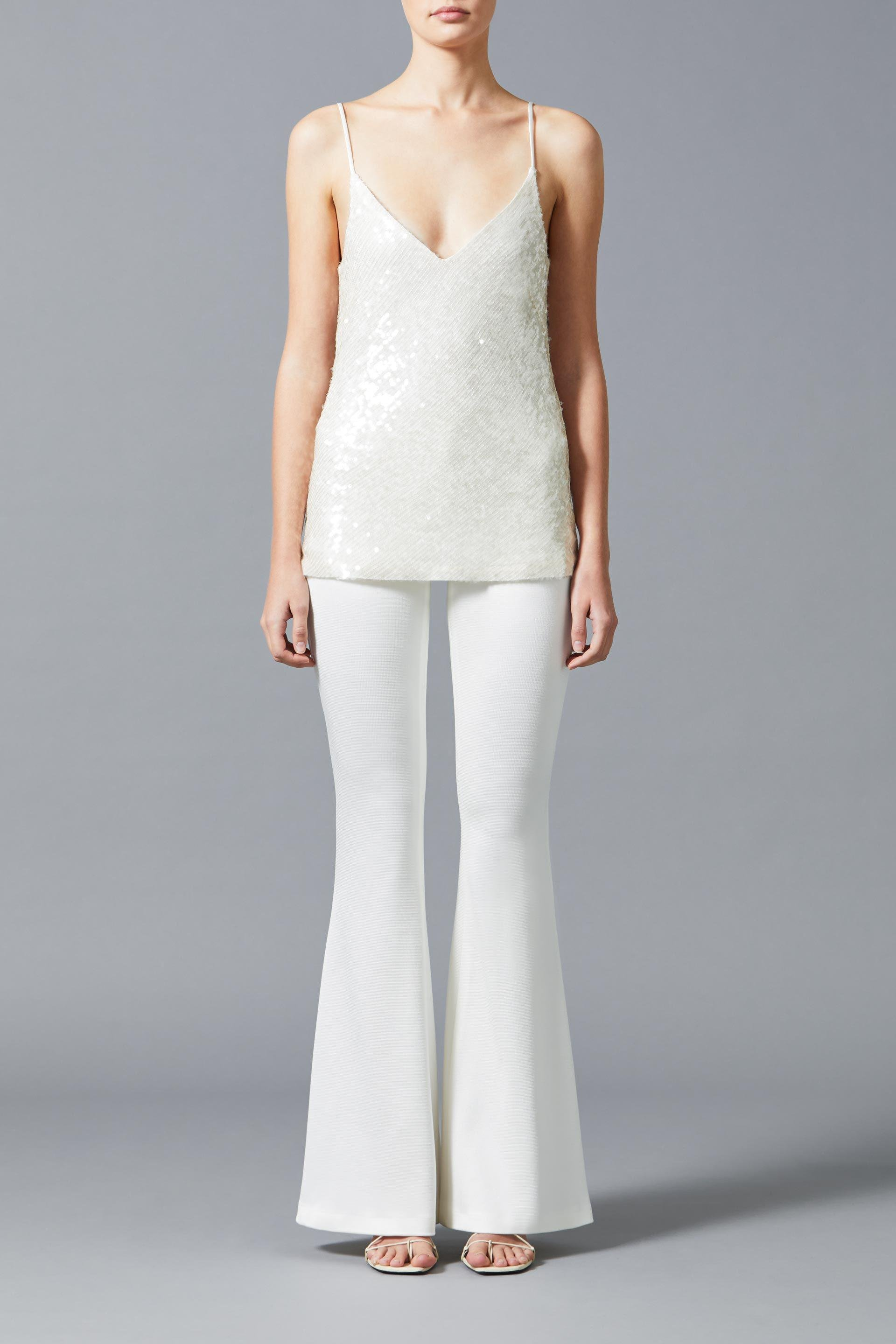 Jersey Flared Bridal Trousers