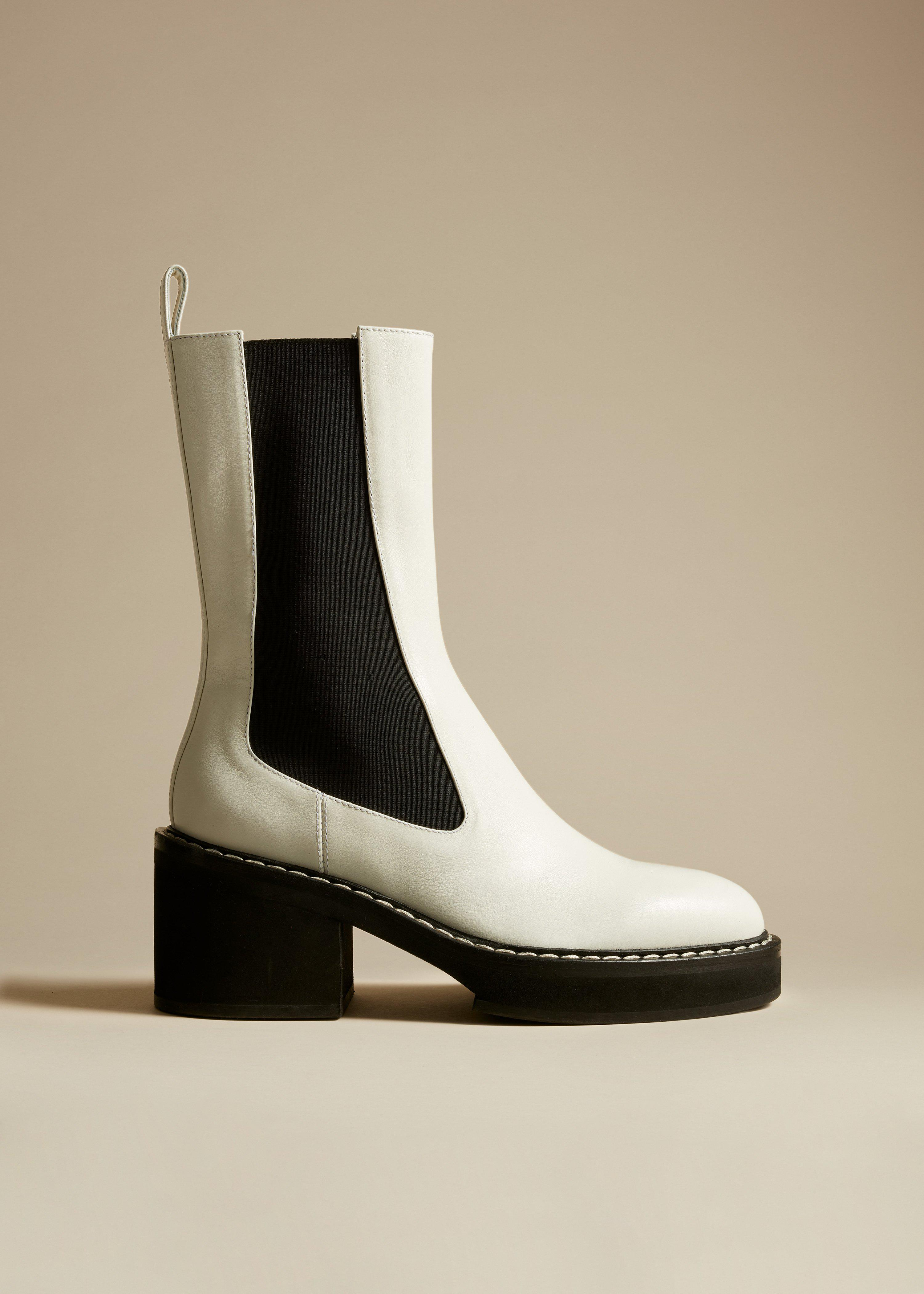 The Calgary Boot in White Leather