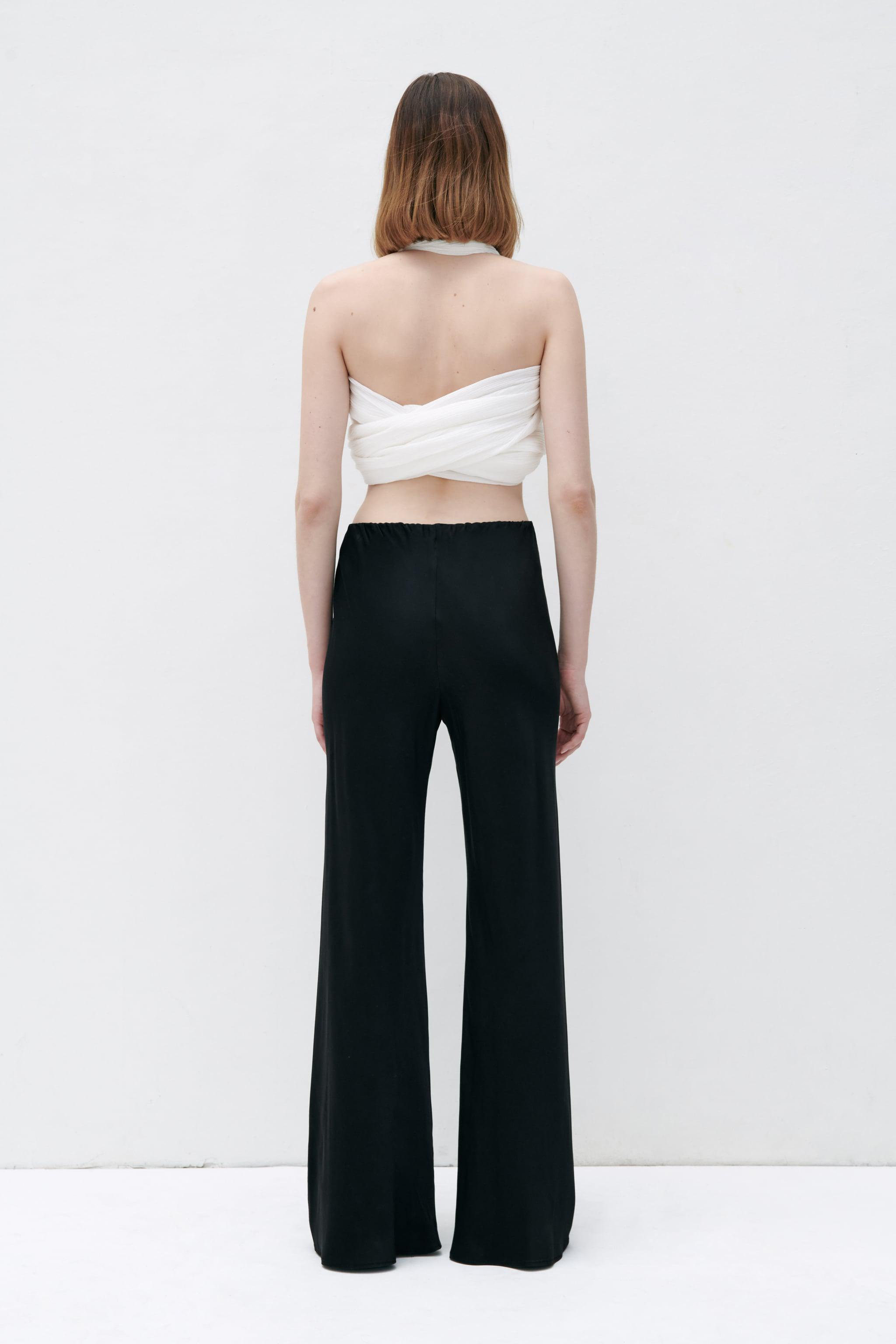 FLARED SATIN EFFECT PANTS 4