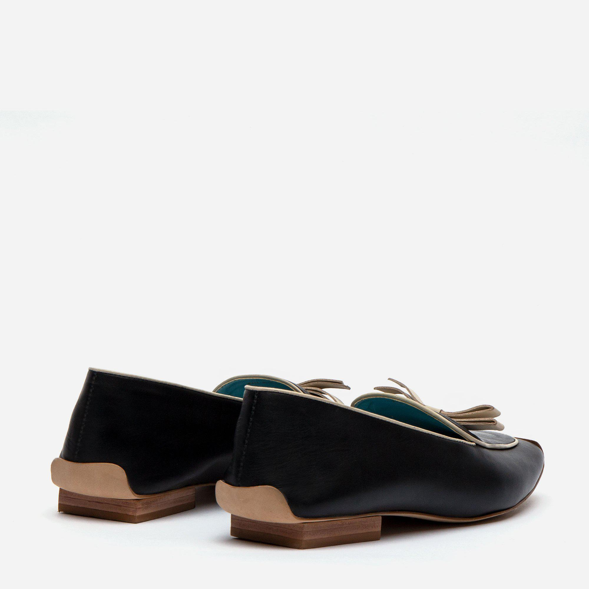 Suzanne Loafer Leather Black Oyster 2