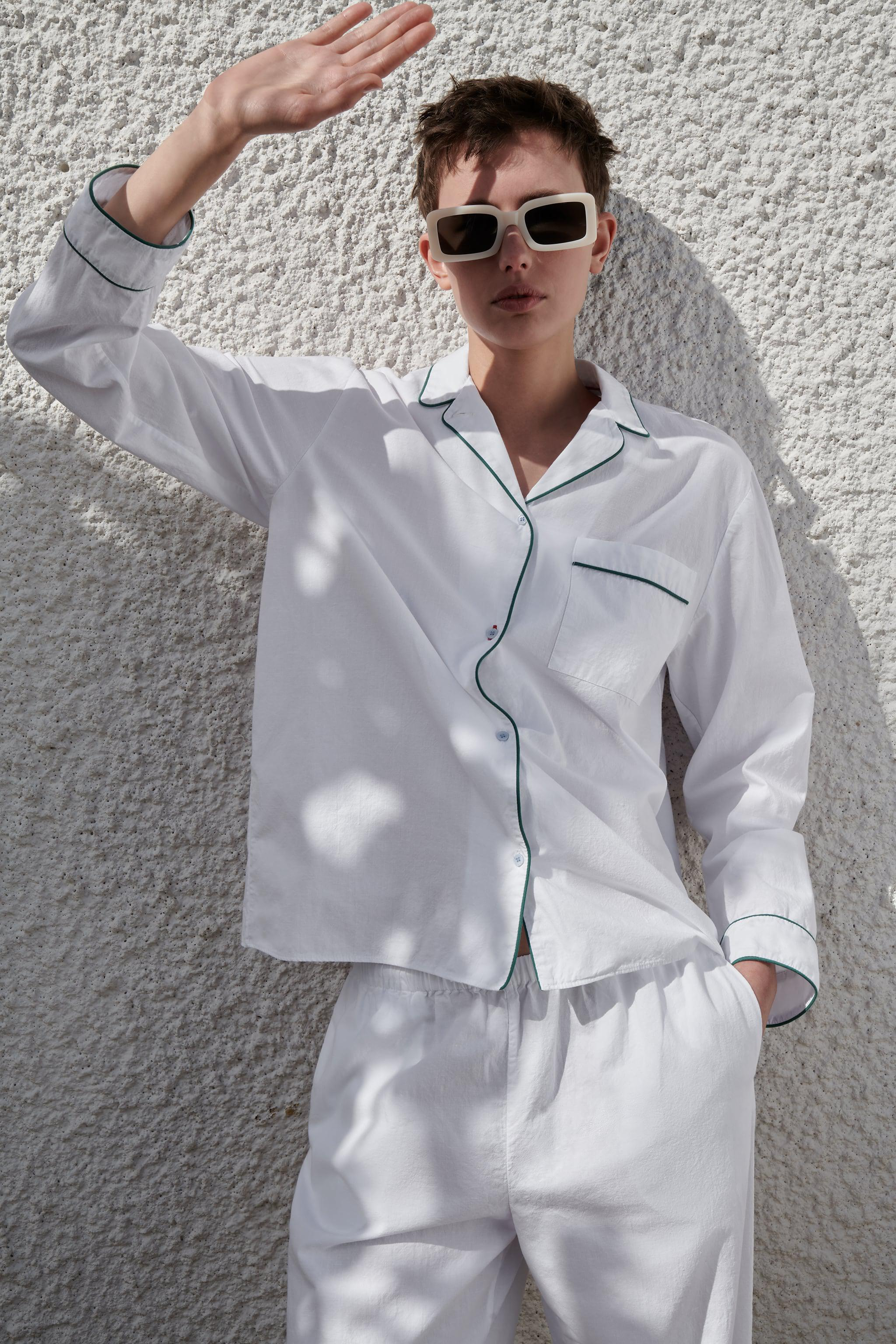 PIPED COTTON SHIRT 1