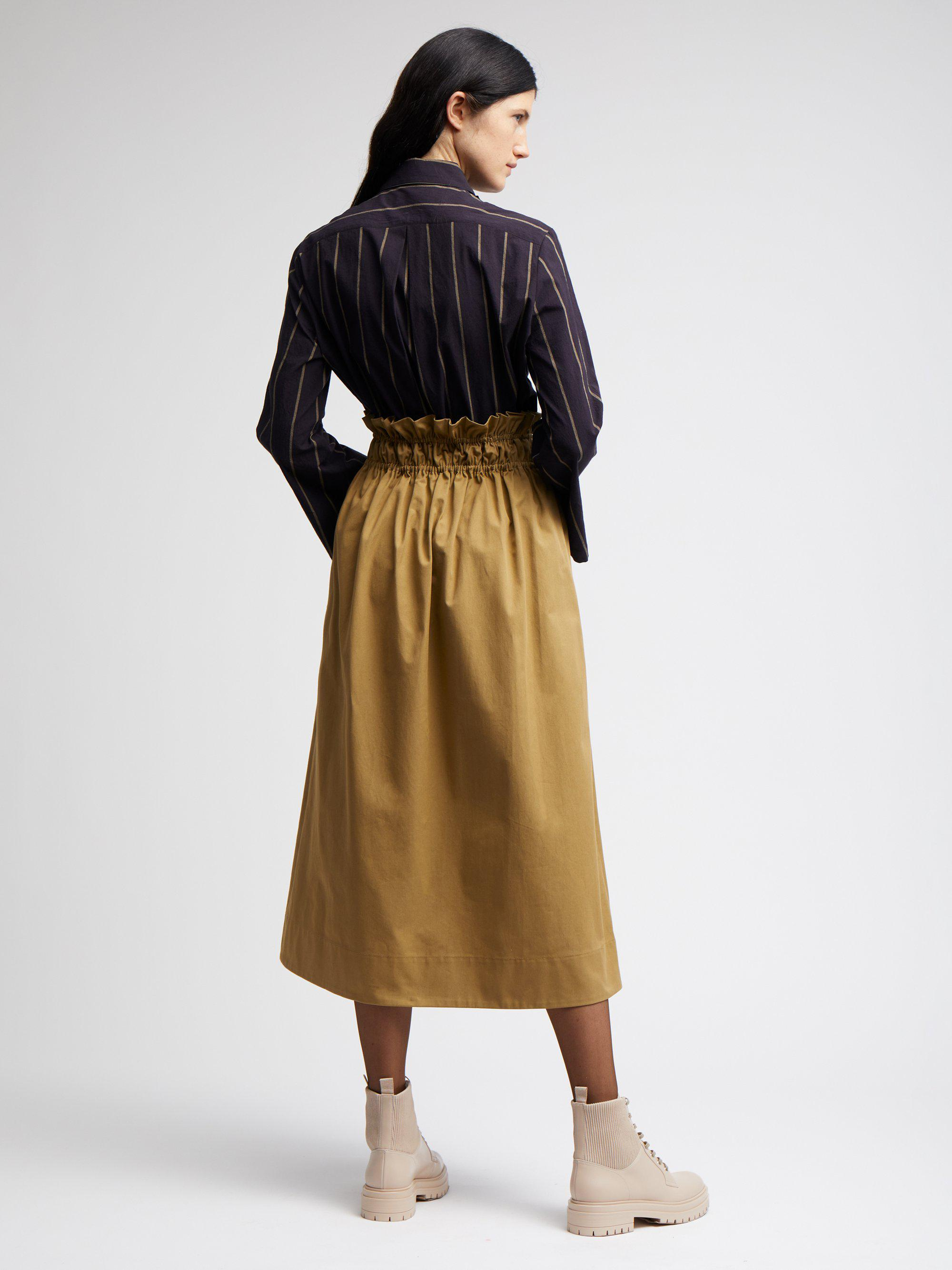DOUBLE GATHERED SKIRT