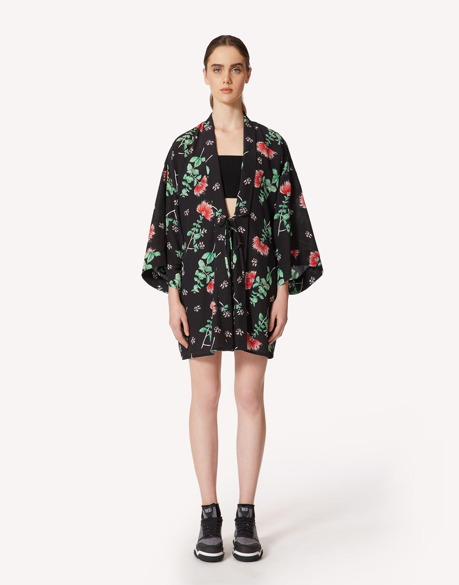 CHELSEA IN BLOOM LIMITED EDITION - PRINTED SILK PEA COAT