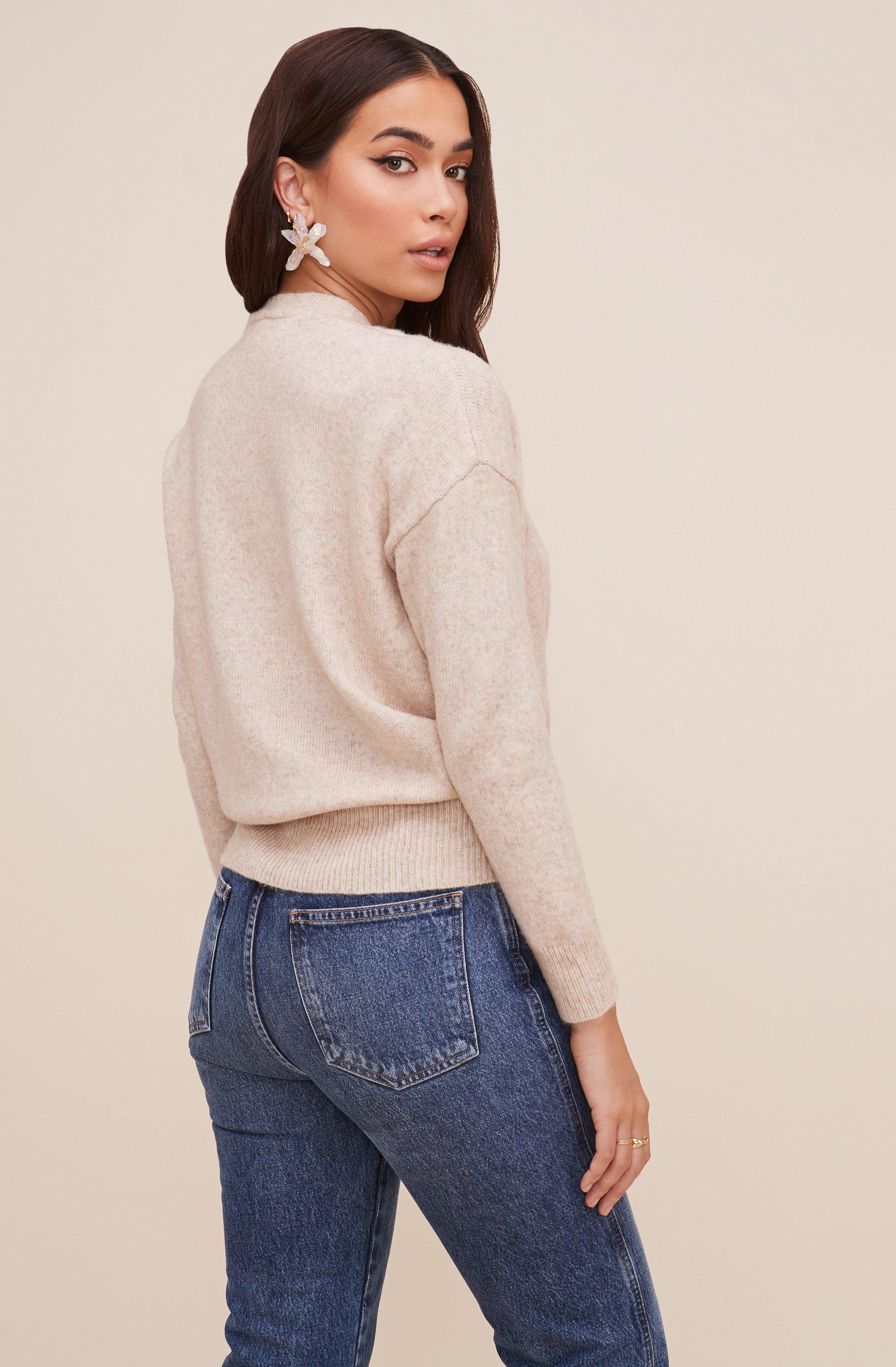 Pleated Wrap Sweater 6
