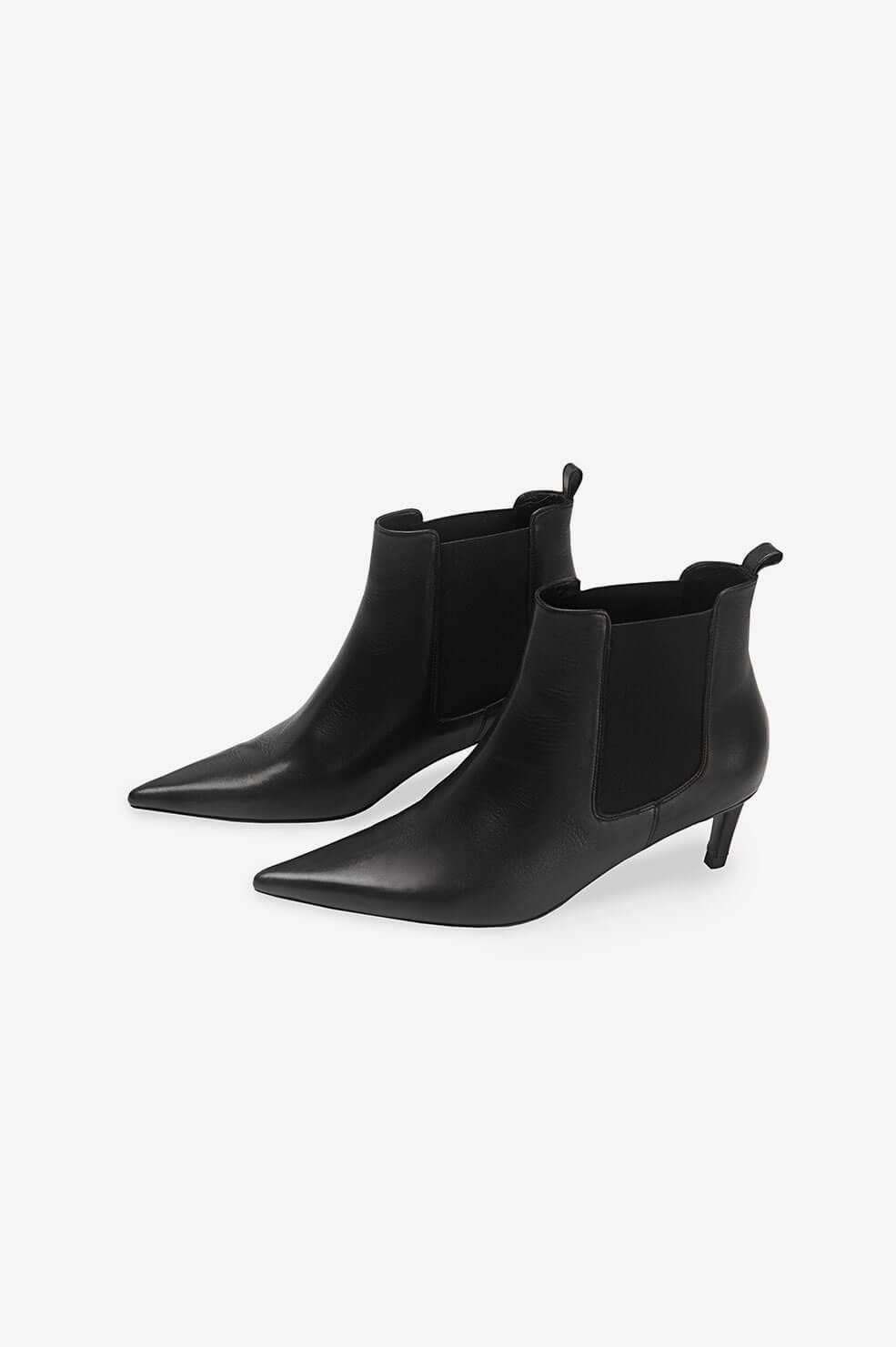 Stevie Boots - Black Leather 1