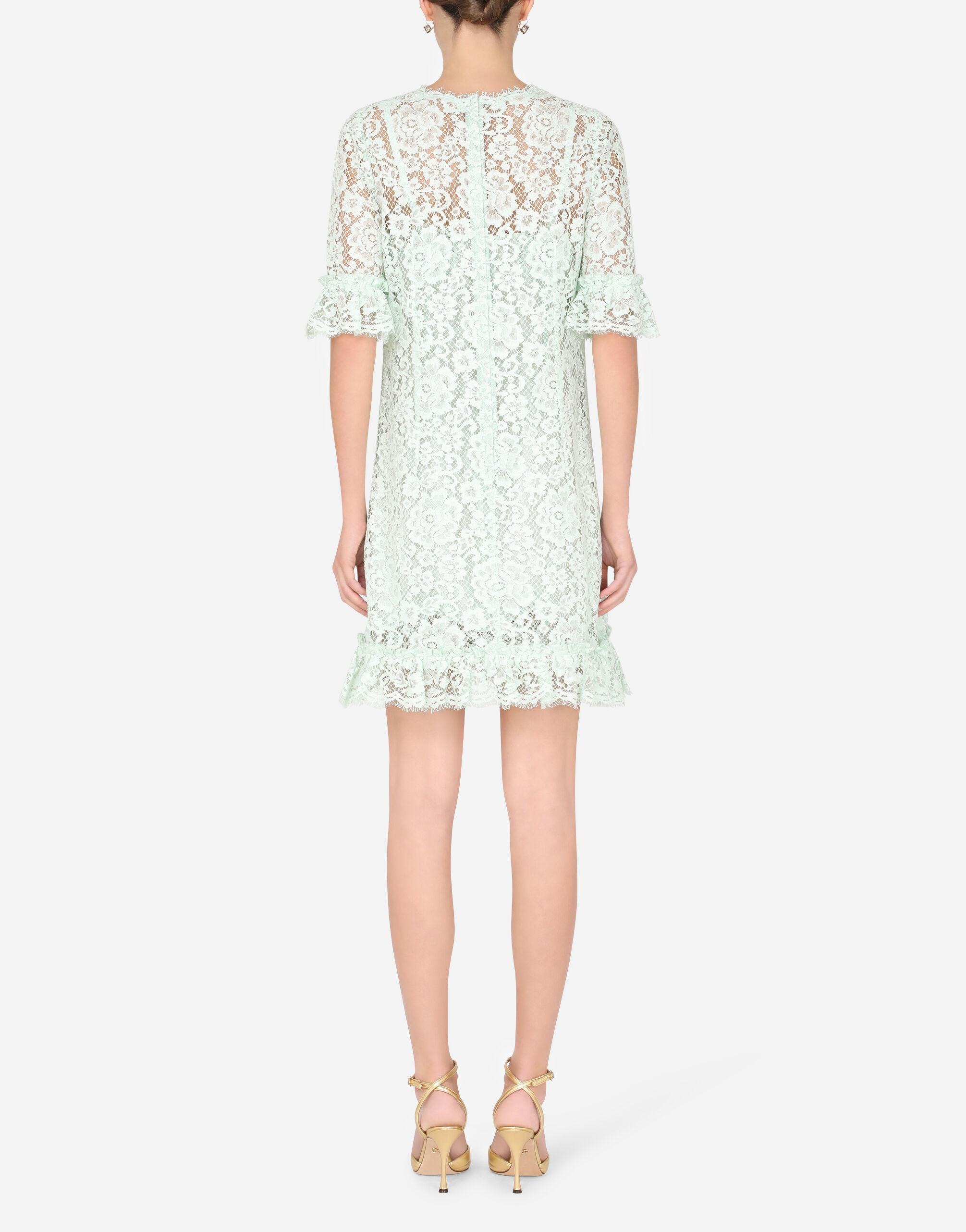 Short lace dress with ruching 1
