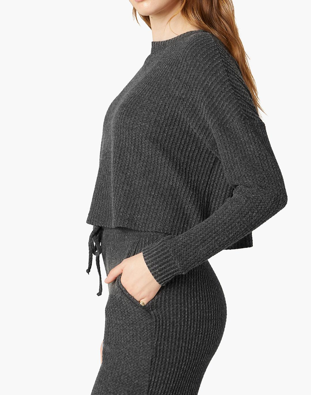 Beyond Yoga Brushed Up Cropped Pullover 1