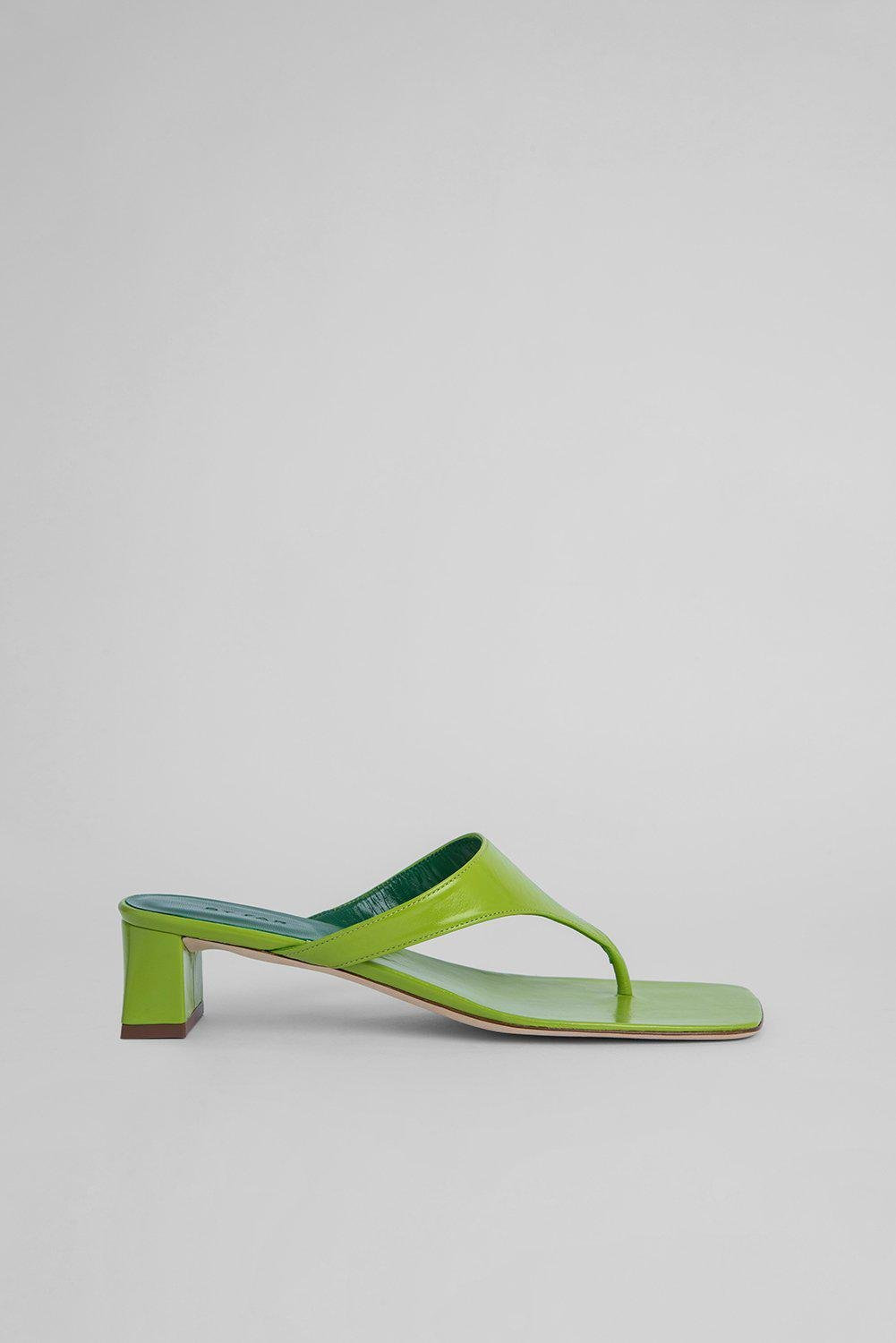 Shawn Lime Green Gloss Leather