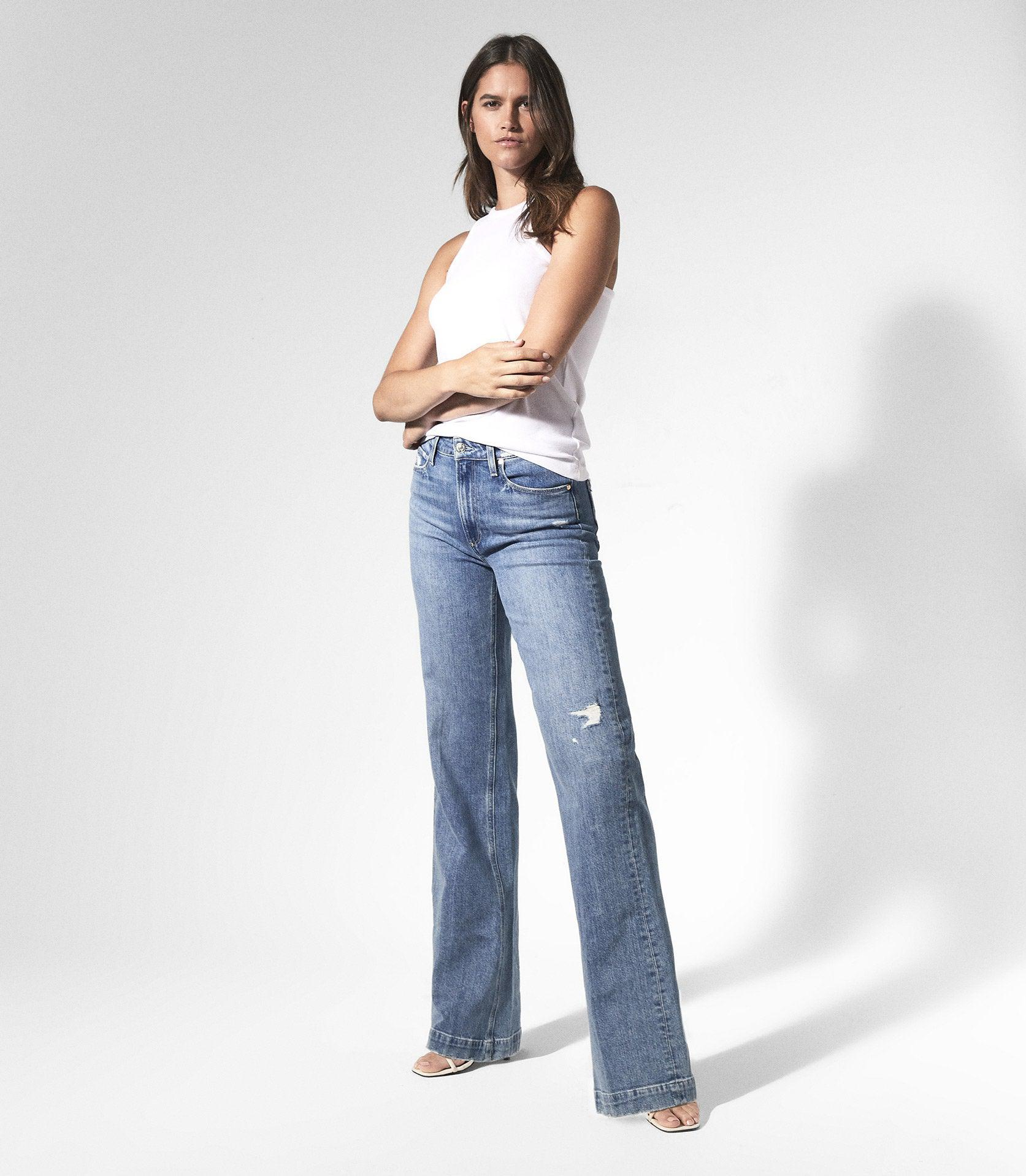 LEENAH - PAIGE HIGH RISE FLARED JEANS