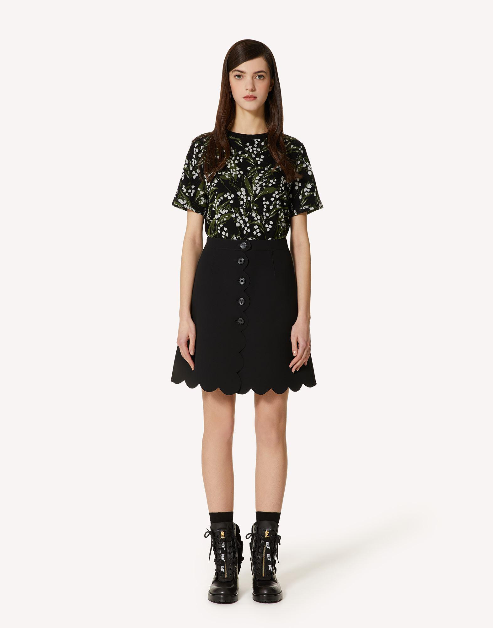 FUSED TECH SKIRT WITH SCALLOP DETAIL