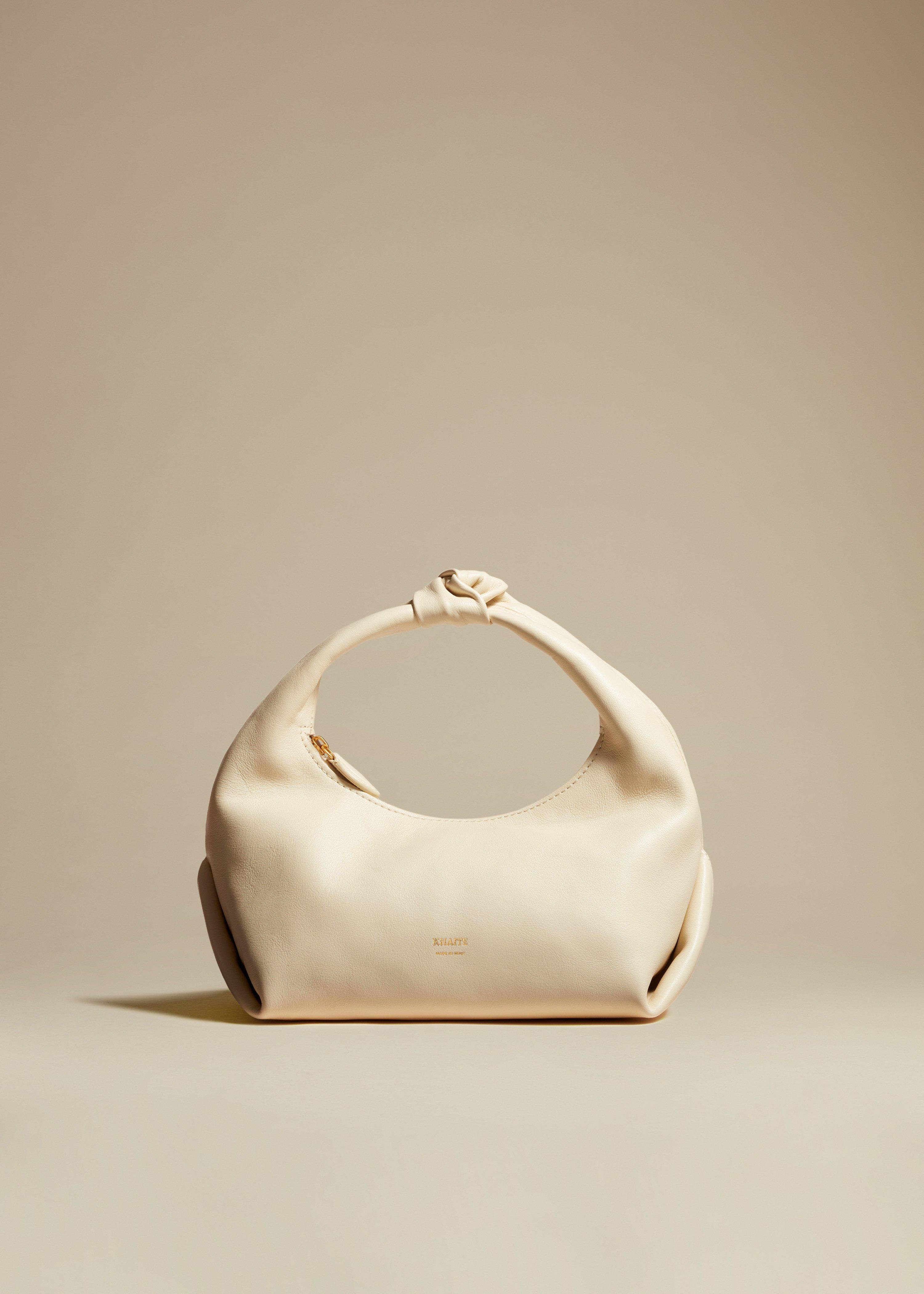The Small Beatrice Hobo in Cream Leather