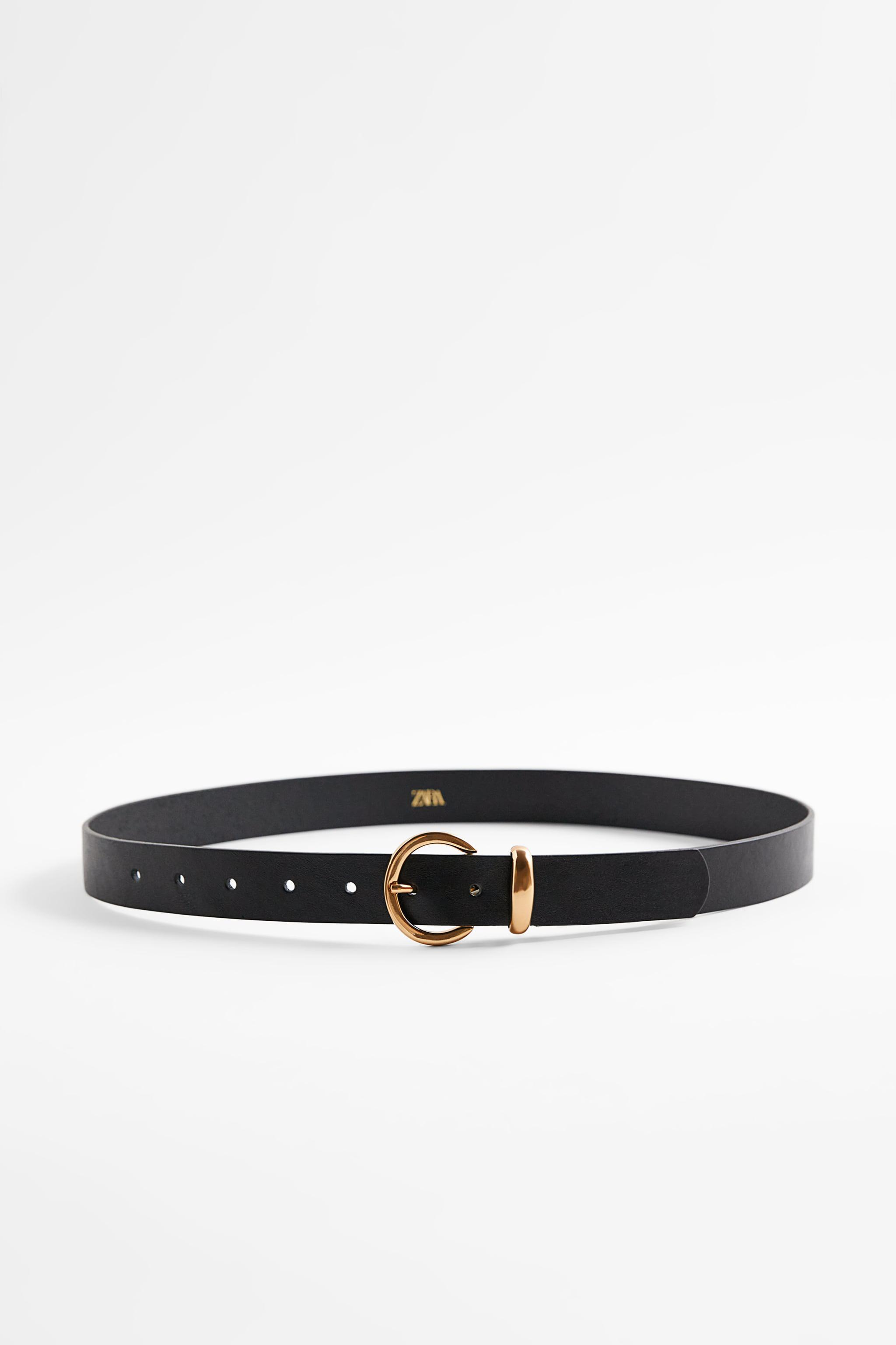 CIRCULAR BUCKLE LEATHER BELT