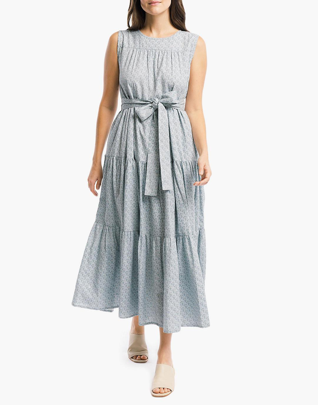 LAUDE the Label Organic Linen Tiered Maxi Dress