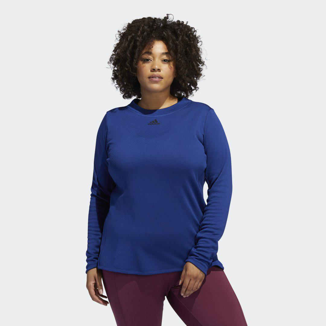 COLD.RDY Long Sleeve Training Tee (Plus Size) Victory Blue