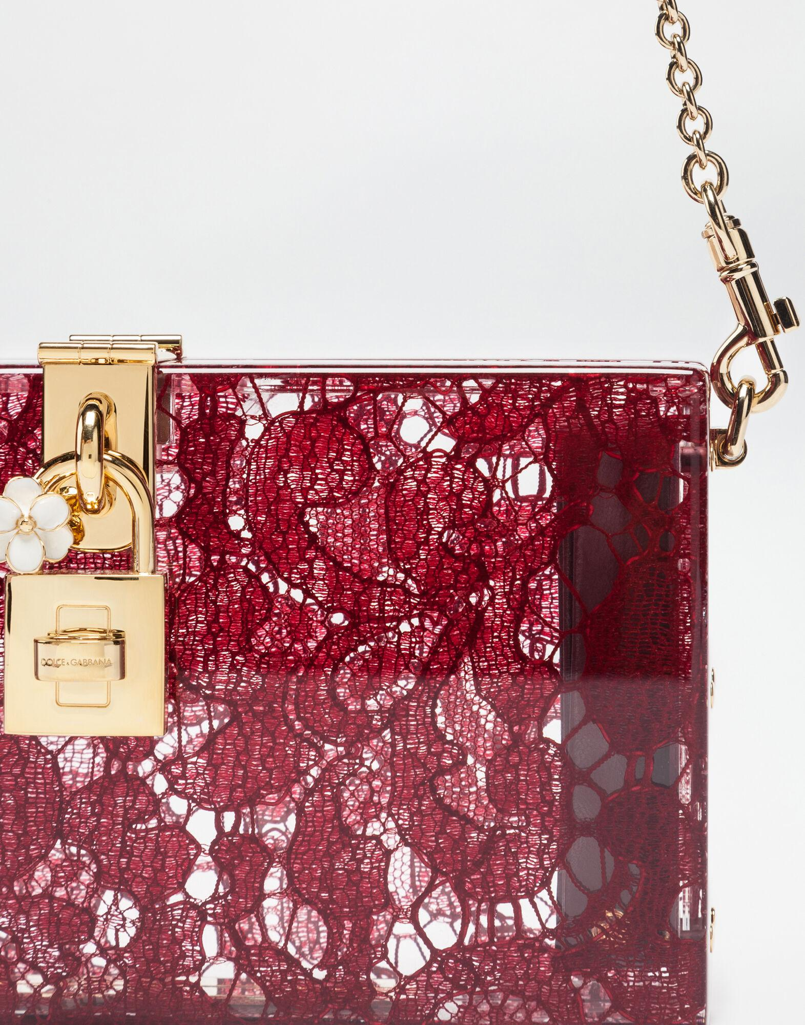 Dolce Box clutch in plexiglass and lace 3