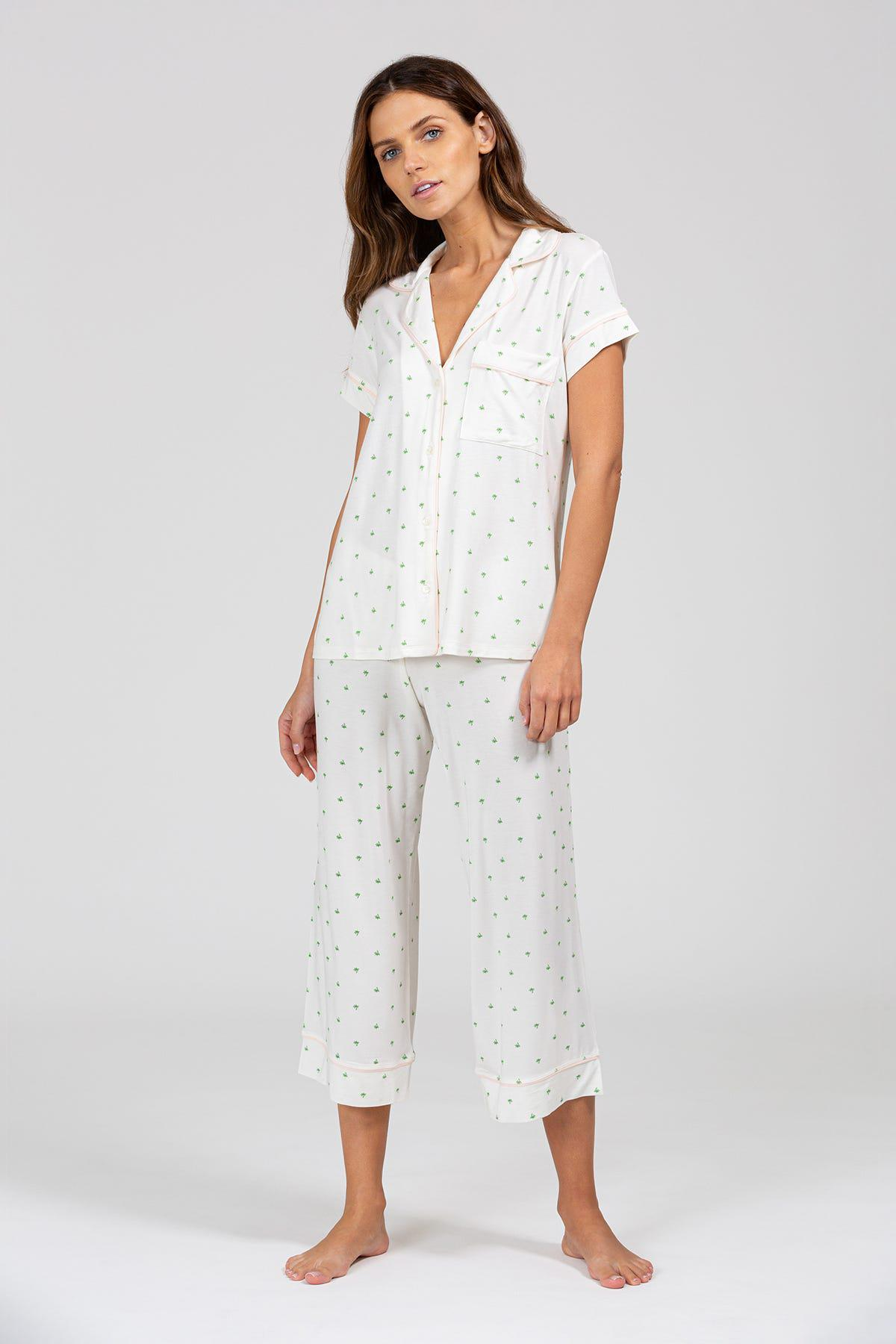 Palm Short Sleeve and Cropped Pant PJ Set