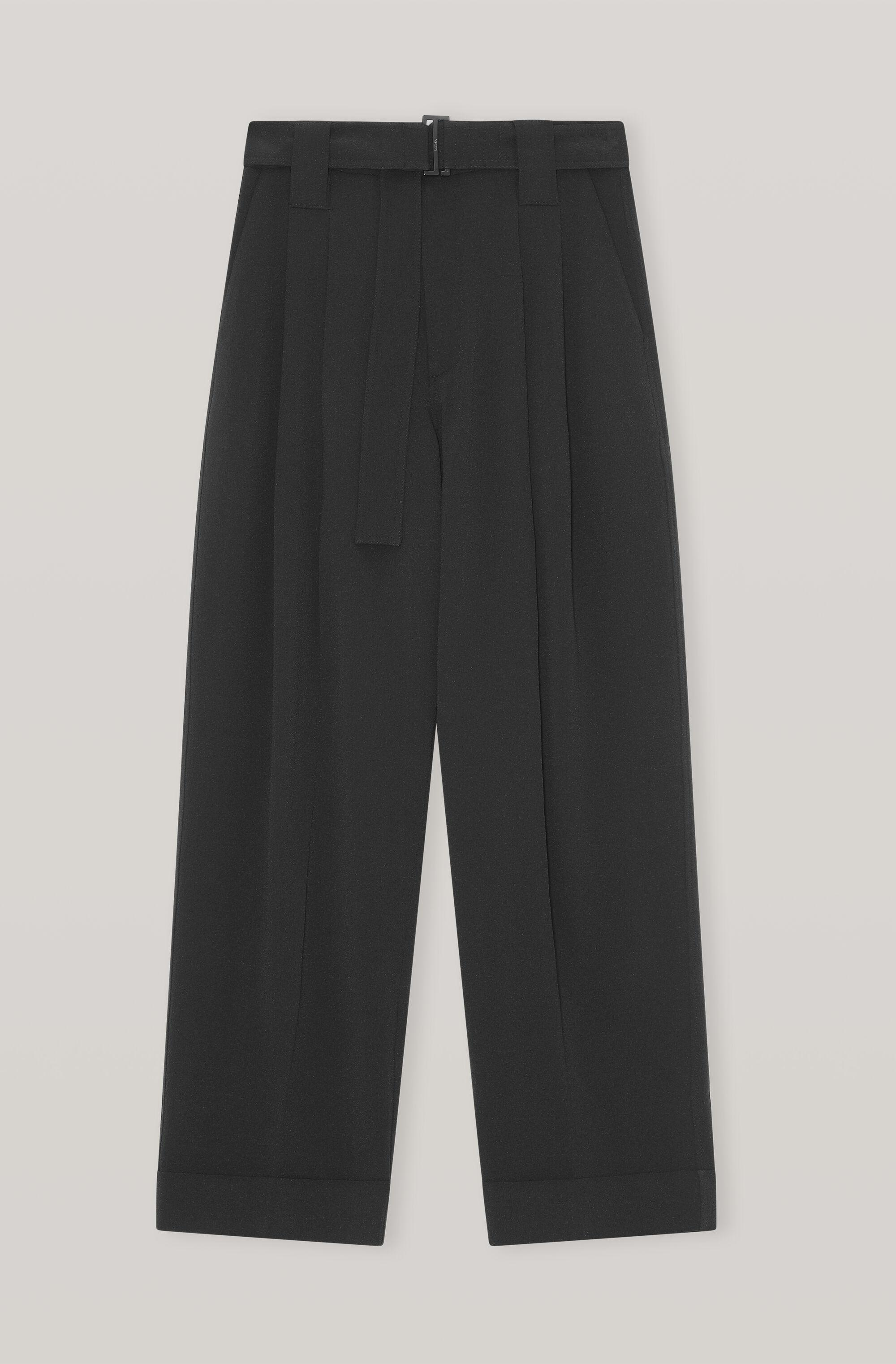 Heavy Crepe  Straight Trousers 2